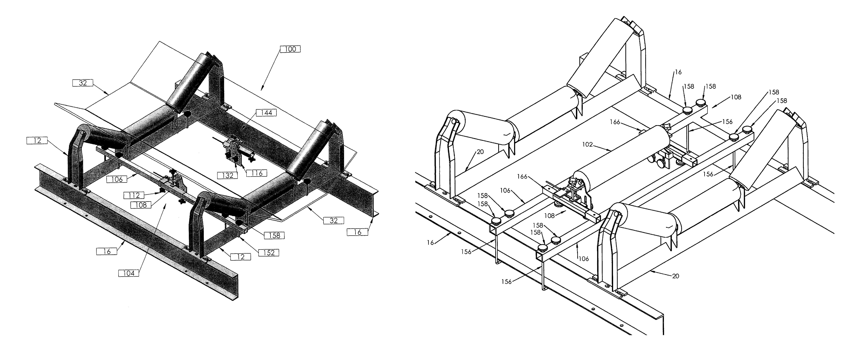 patent us8063321 - universal belt scale frame
