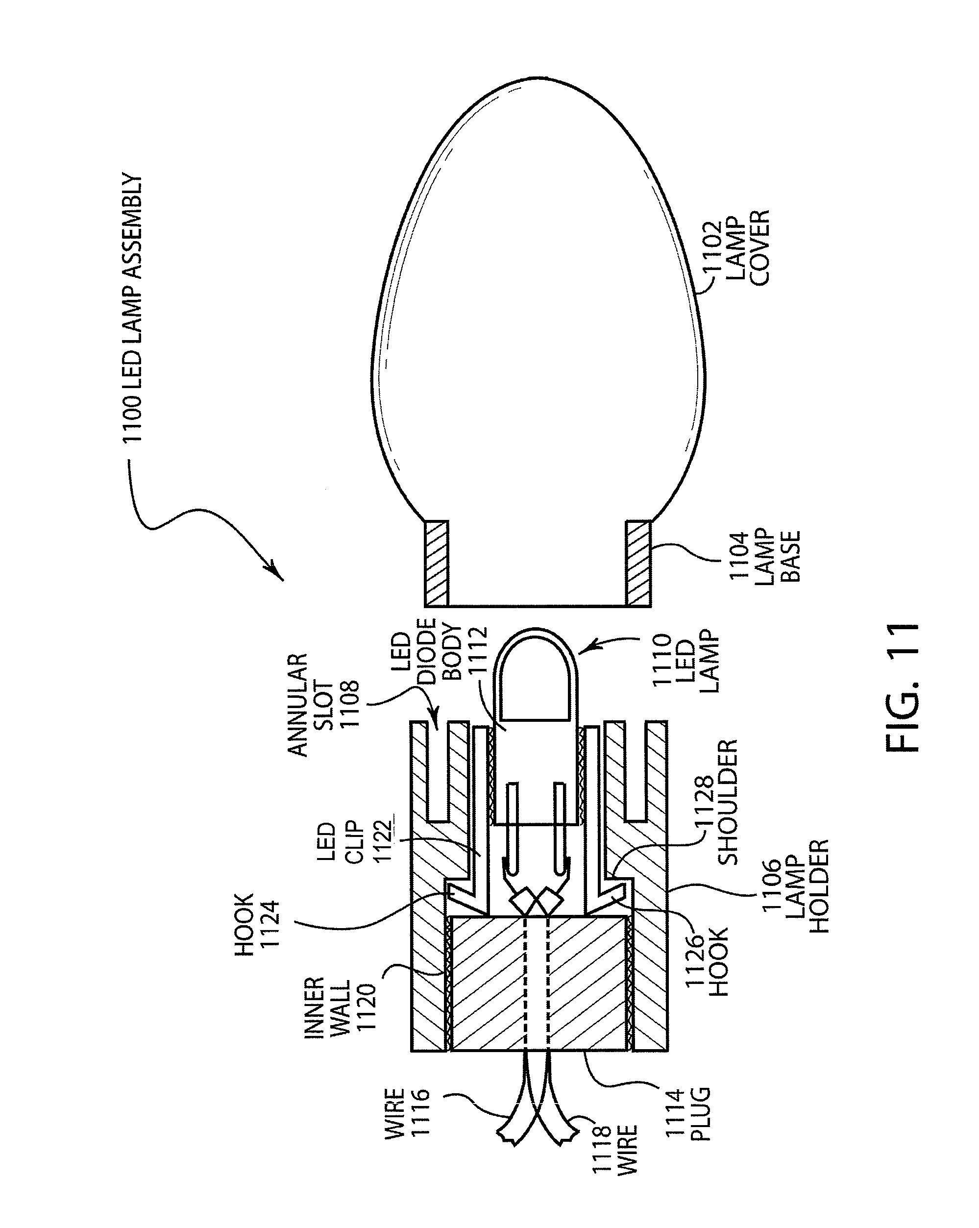 Patent Us8083393 Substantially Inseparable Led Lamp Assembly Light Bulb Google Patente On Wire Battery Circuit Drawing