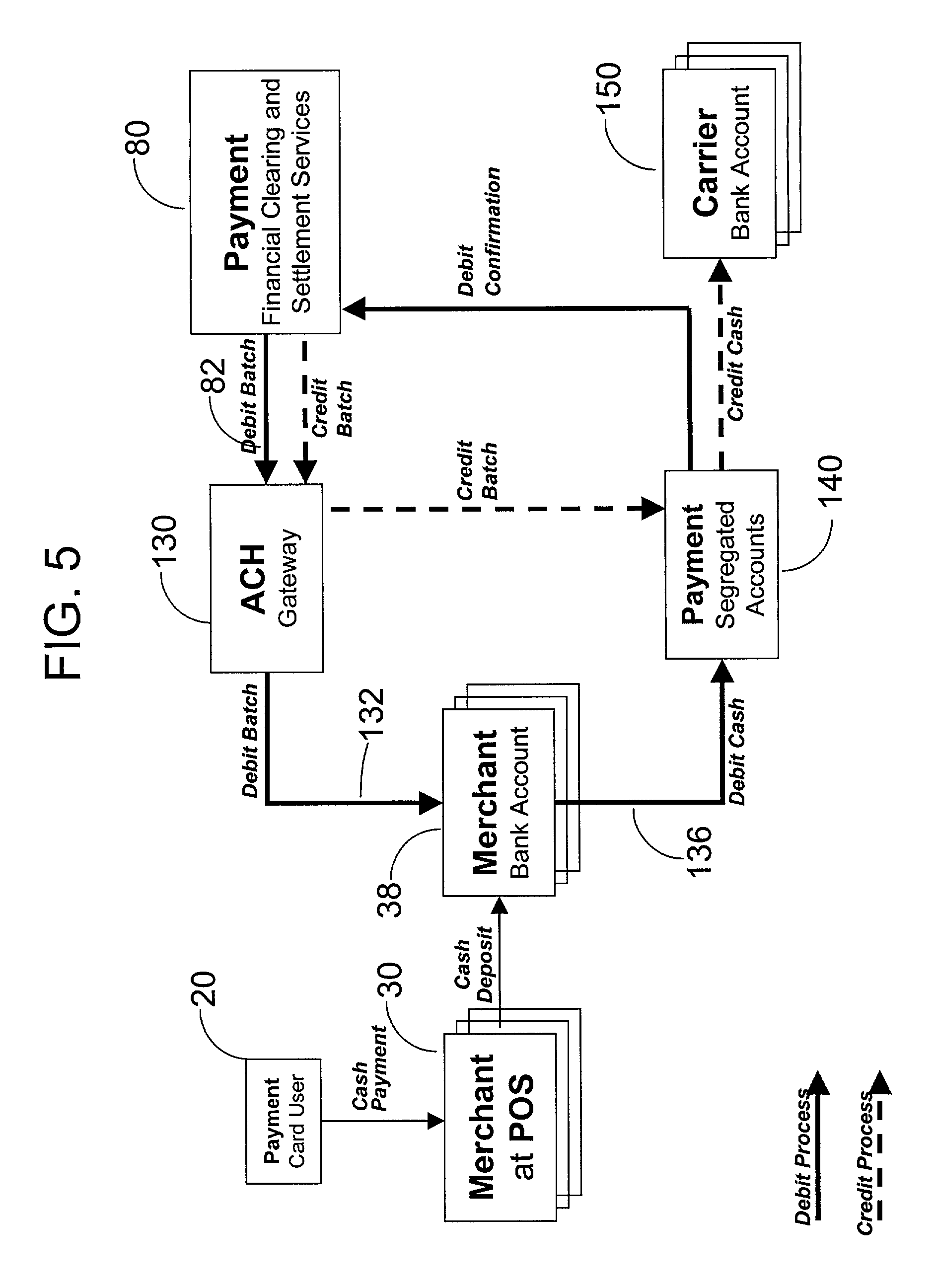patent us8086530 - electronic payment system utilizing intermediary account