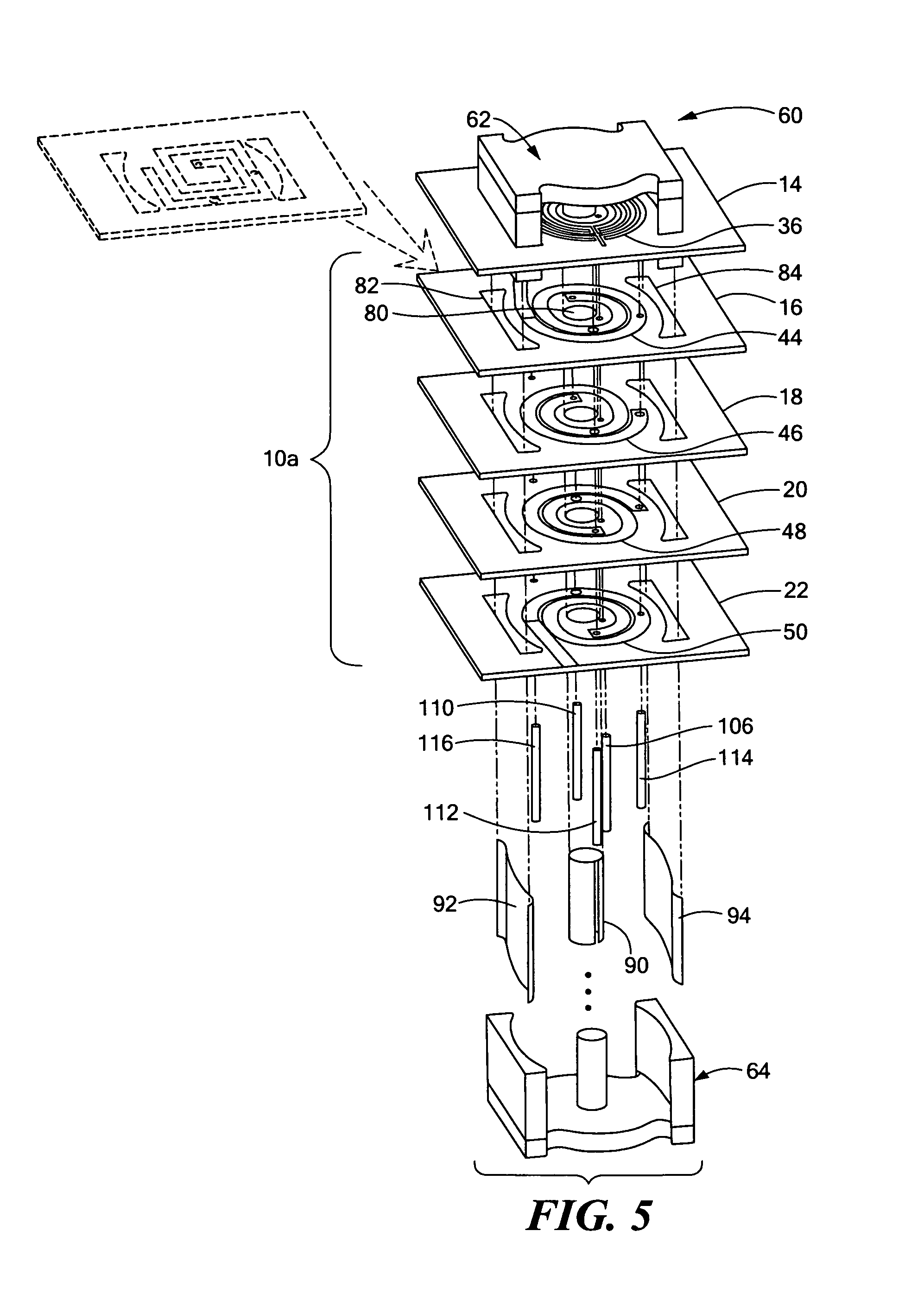 patent us8089331 - planar magnetic structure