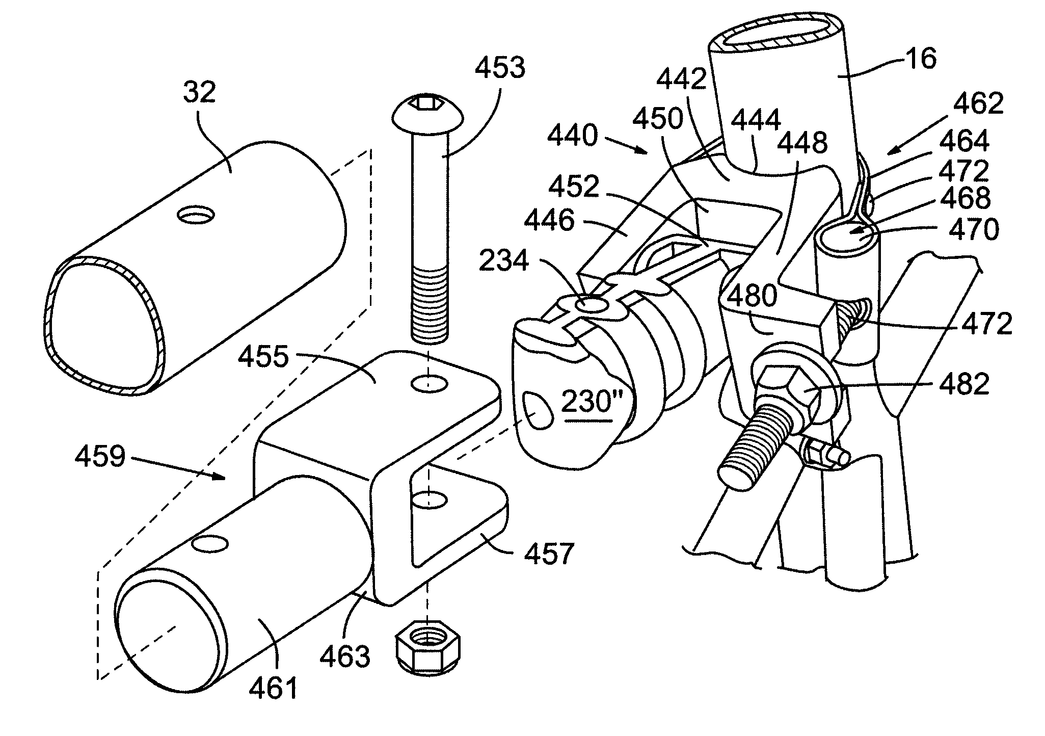 patent us8091908 bicycle trailer hitch patents Dixon Camlock Coupling patent drawing