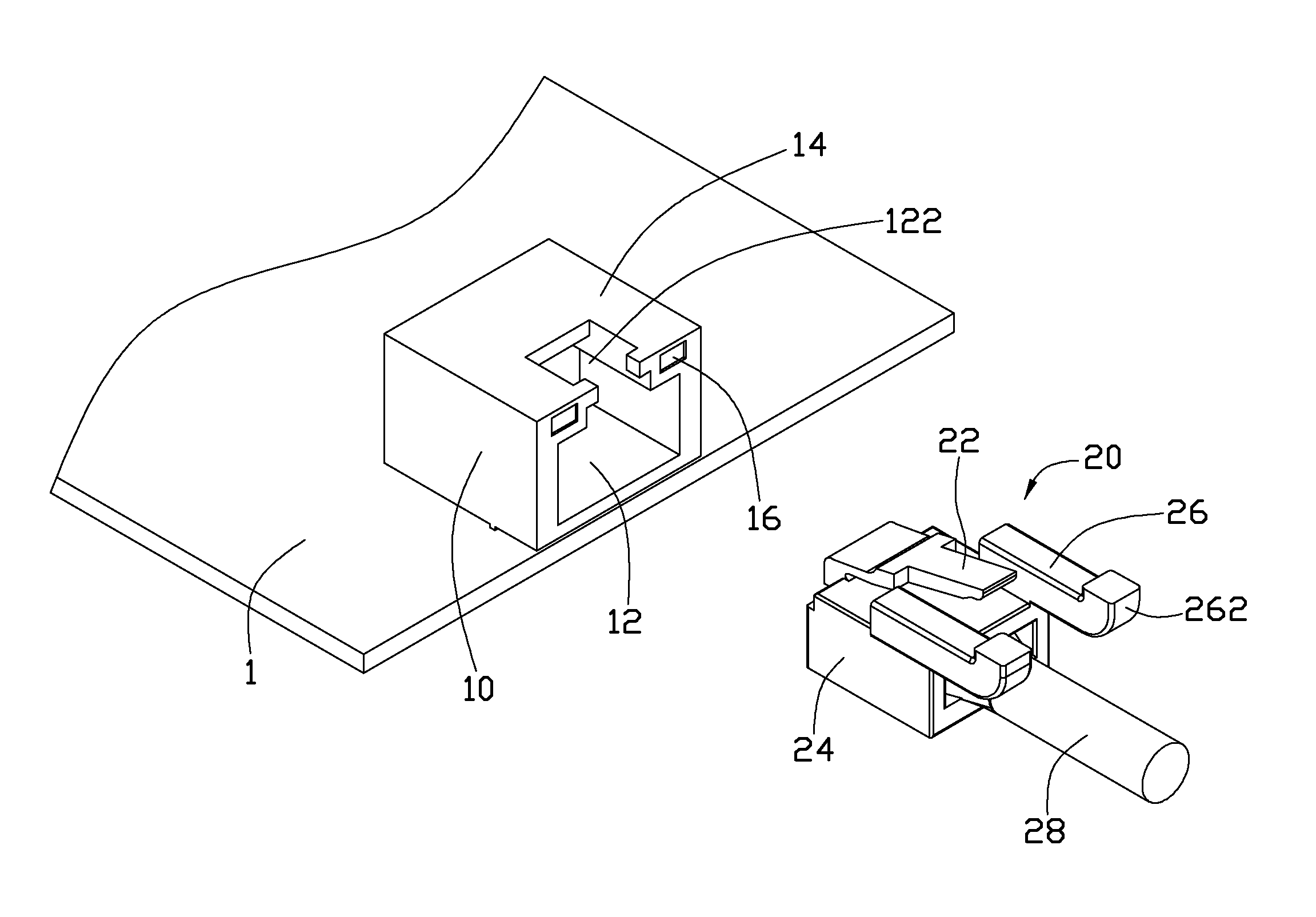 patent us8100712 rj 45 connector patents RJ45 Wiring -Diagram patent drawing