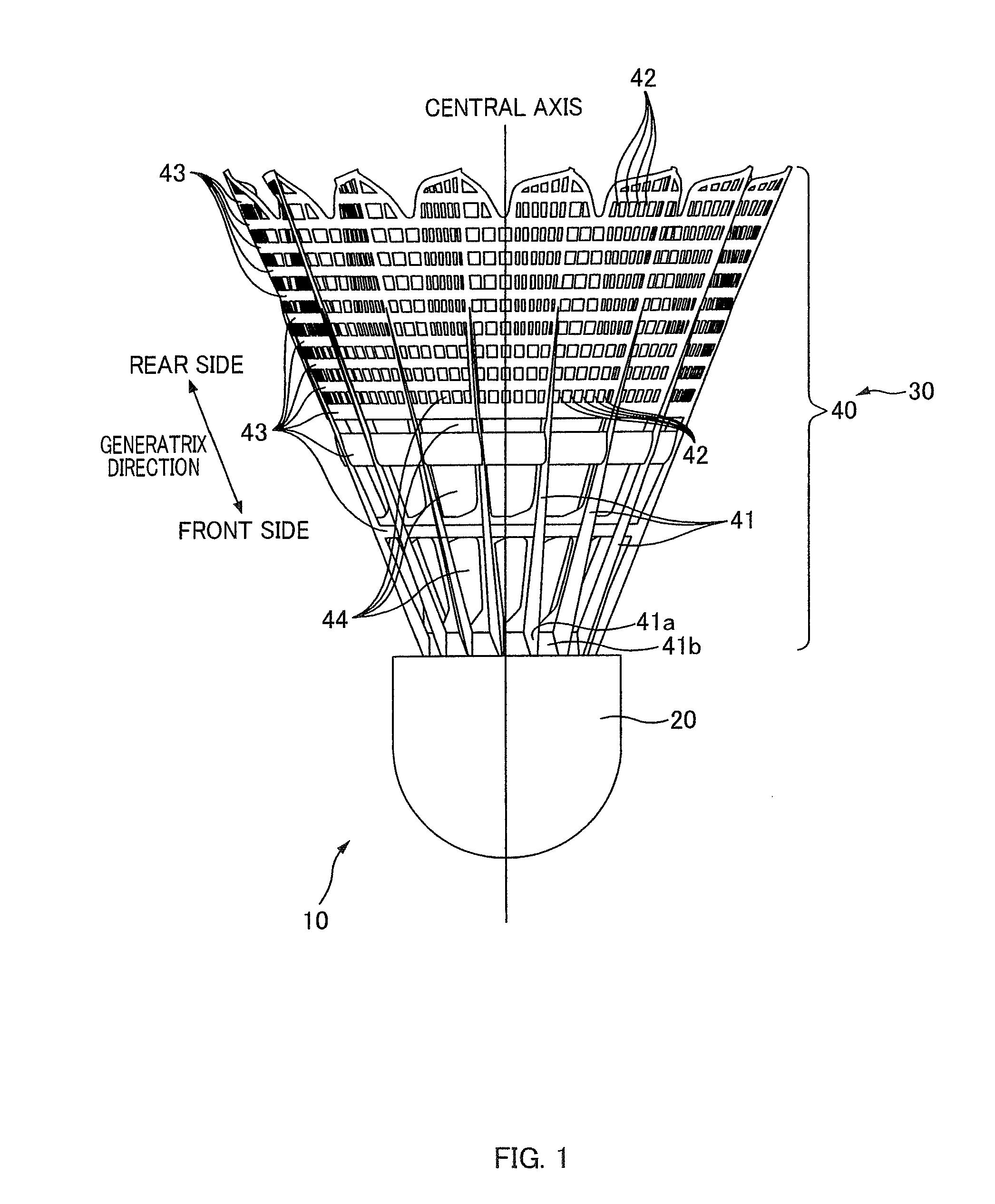 patent us8105185 shuttlecock google patents. Black Bedroom Furniture Sets. Home Design Ideas