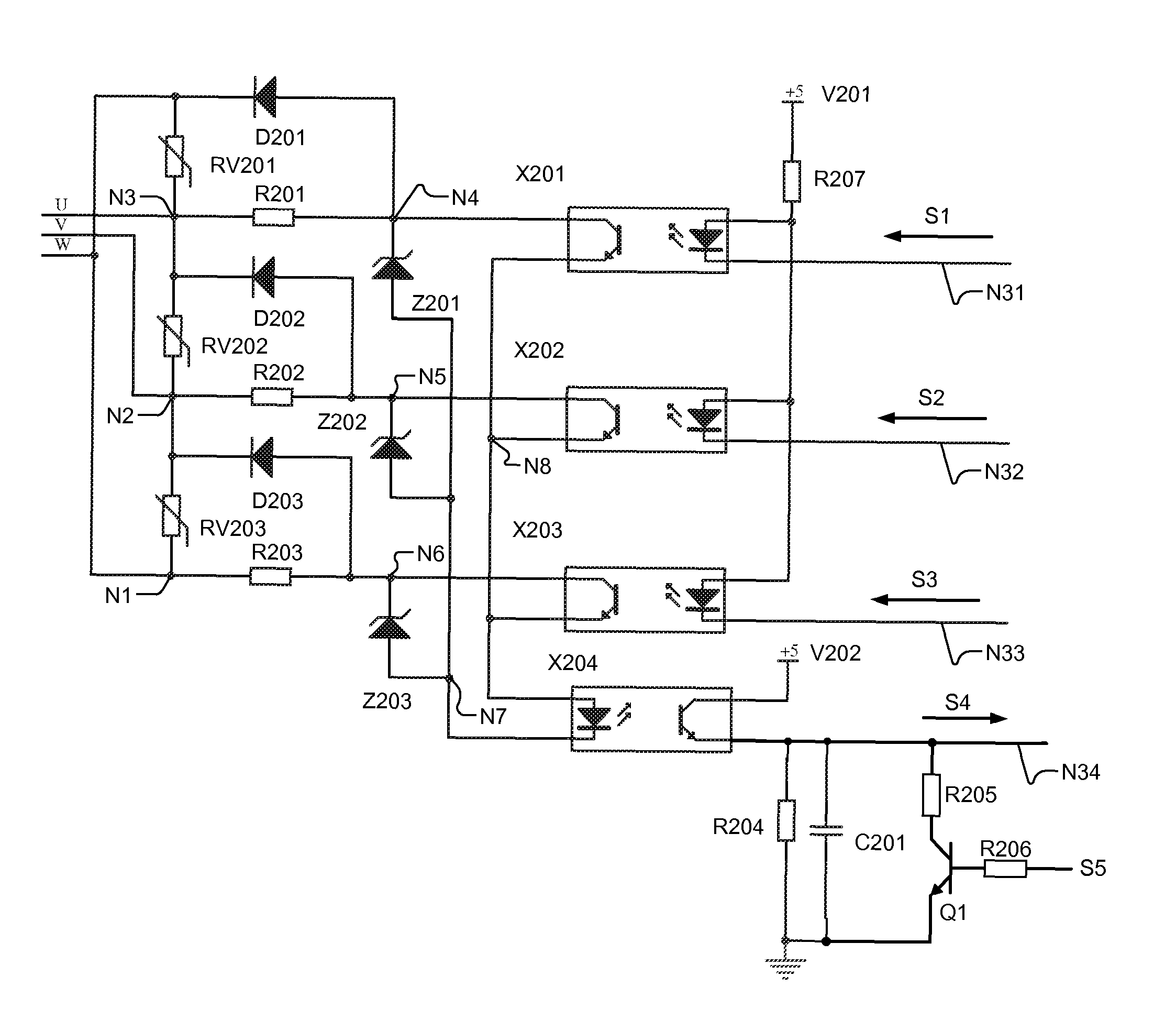 patent us8107204 - three-phase detection module