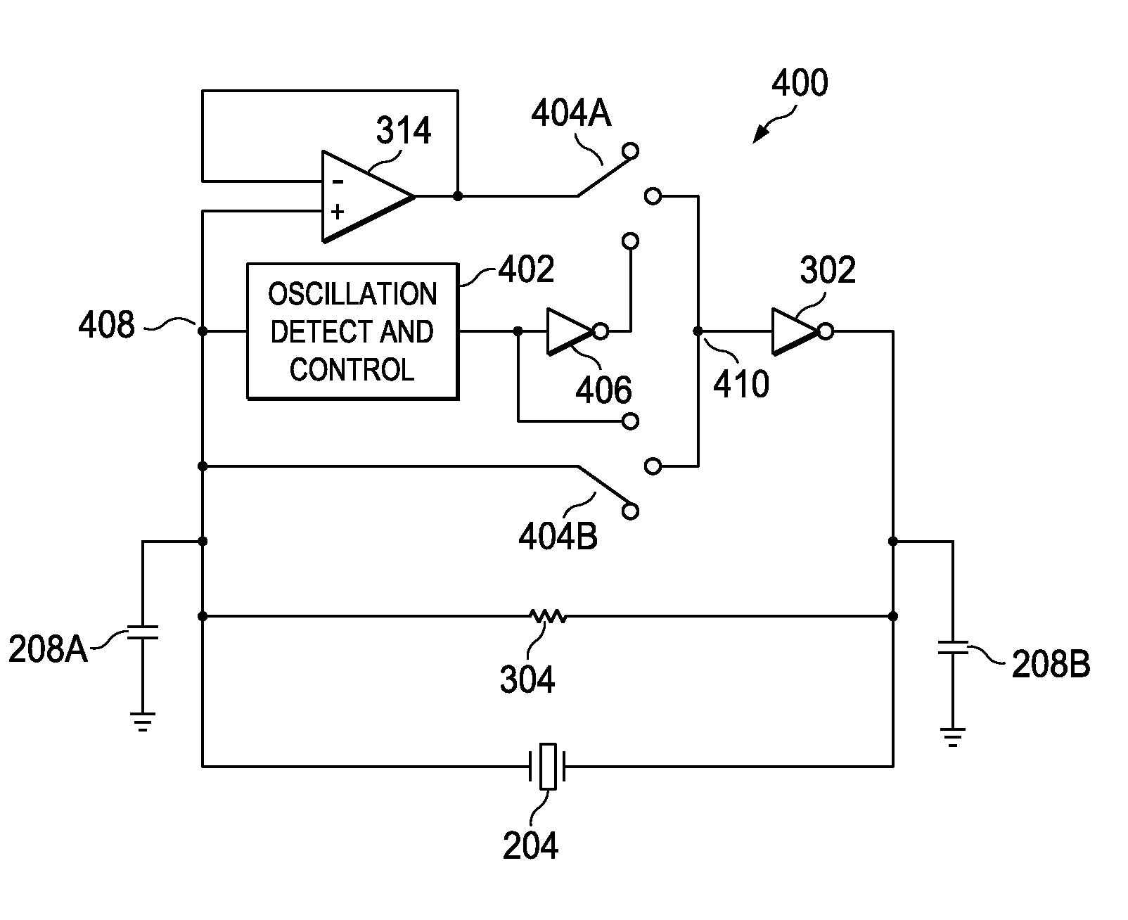 Generator Circuit Using Crystal Oscillator Electronic Circuits