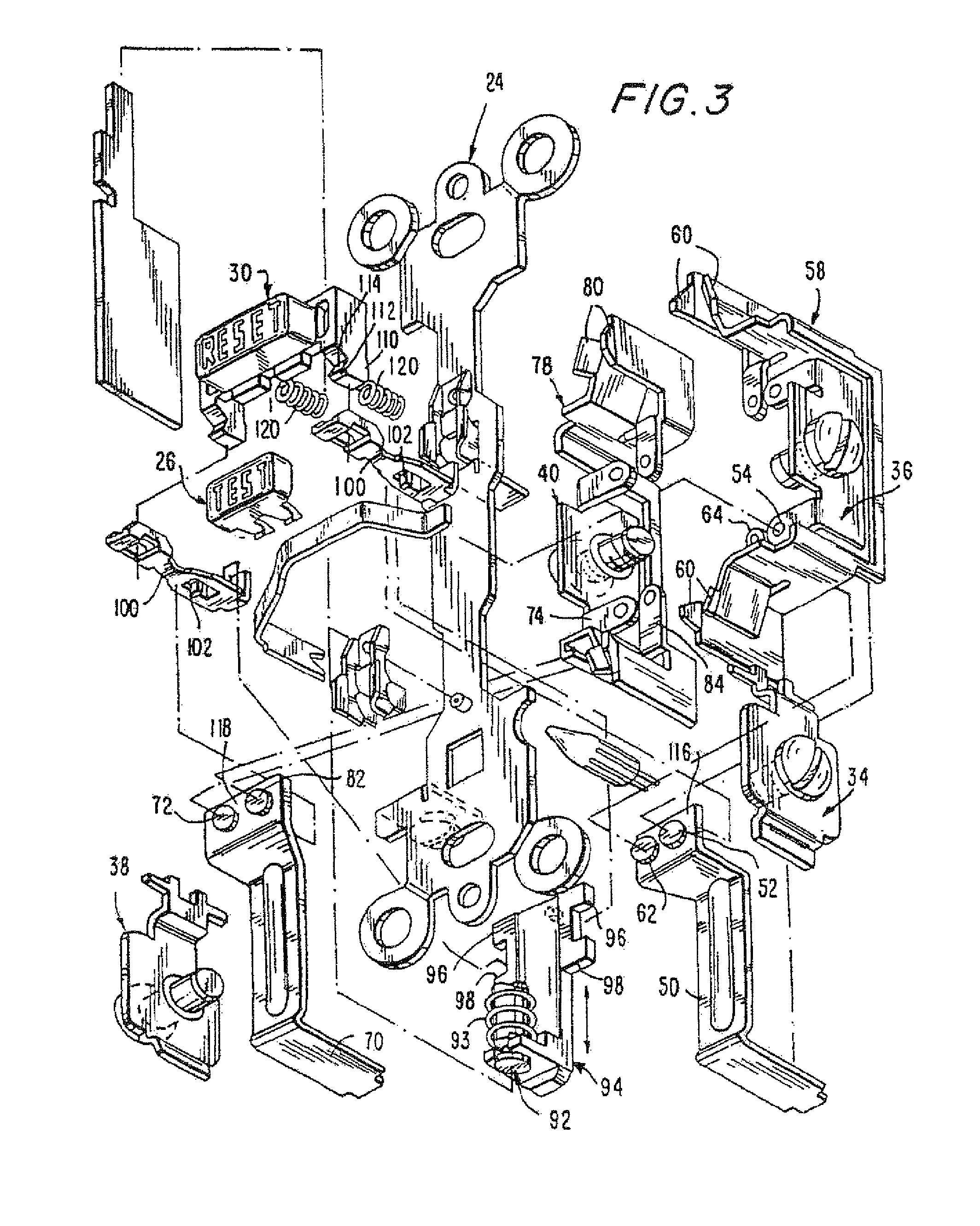 patent us8130480 circuit interrupting device with reset lockout Philips Electronic Ballast Wiring Diagram patent drawing
