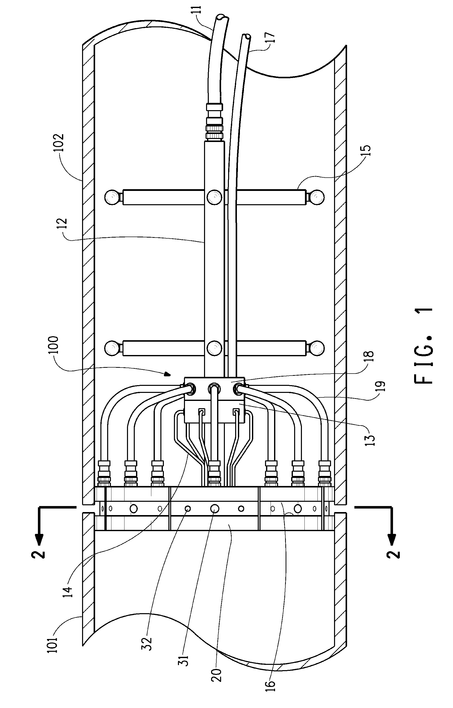 patent us8136715 - internal pipe clamp alignment guides with purge backup