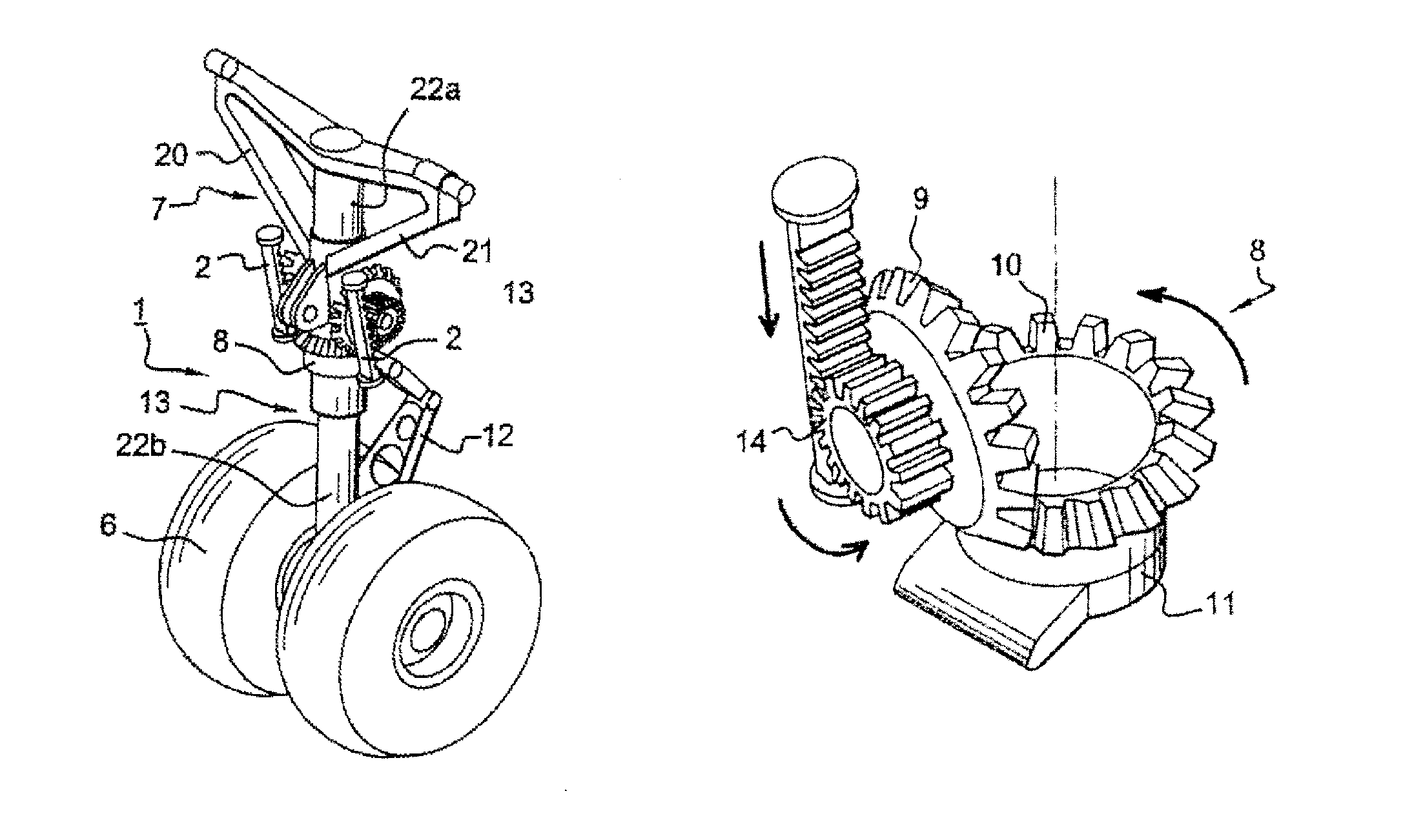 Patent Us8136754 Compact Steering Device For The Landing