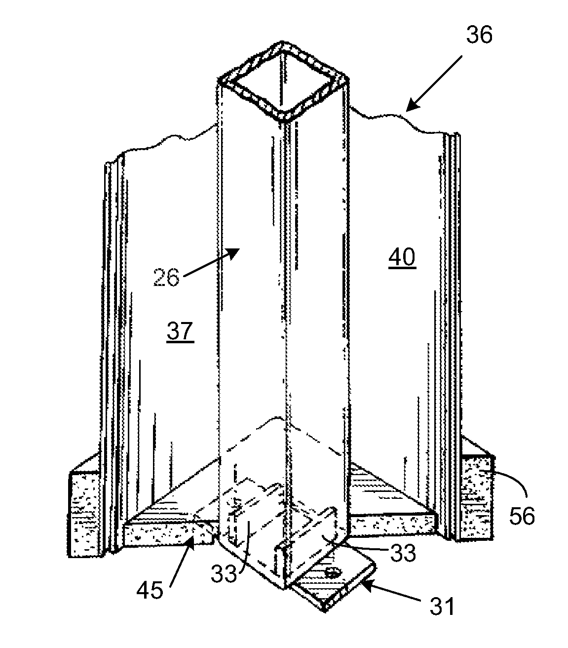 patent us8146326 light weight load bearing architectural column google patents. Black Bedroom Furniture Sets. Home Design Ideas