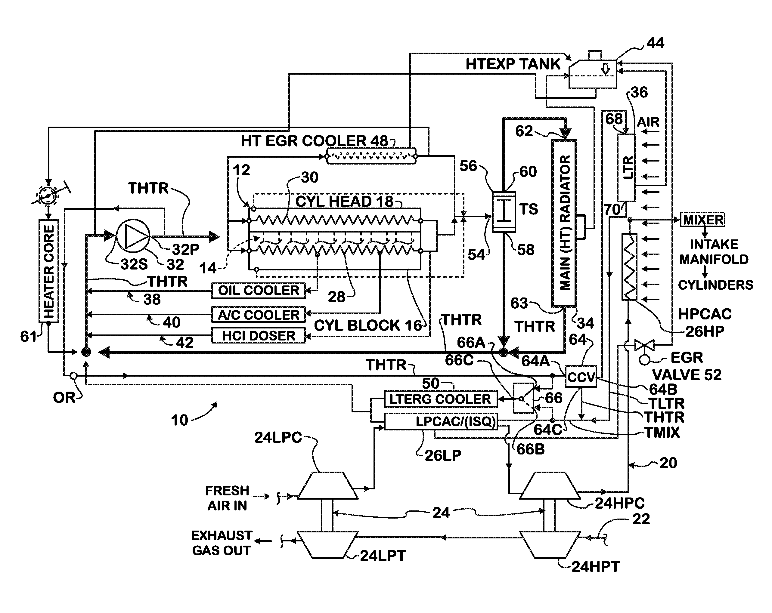 Patent Us8146542 - Adaptive Egr Cooling System