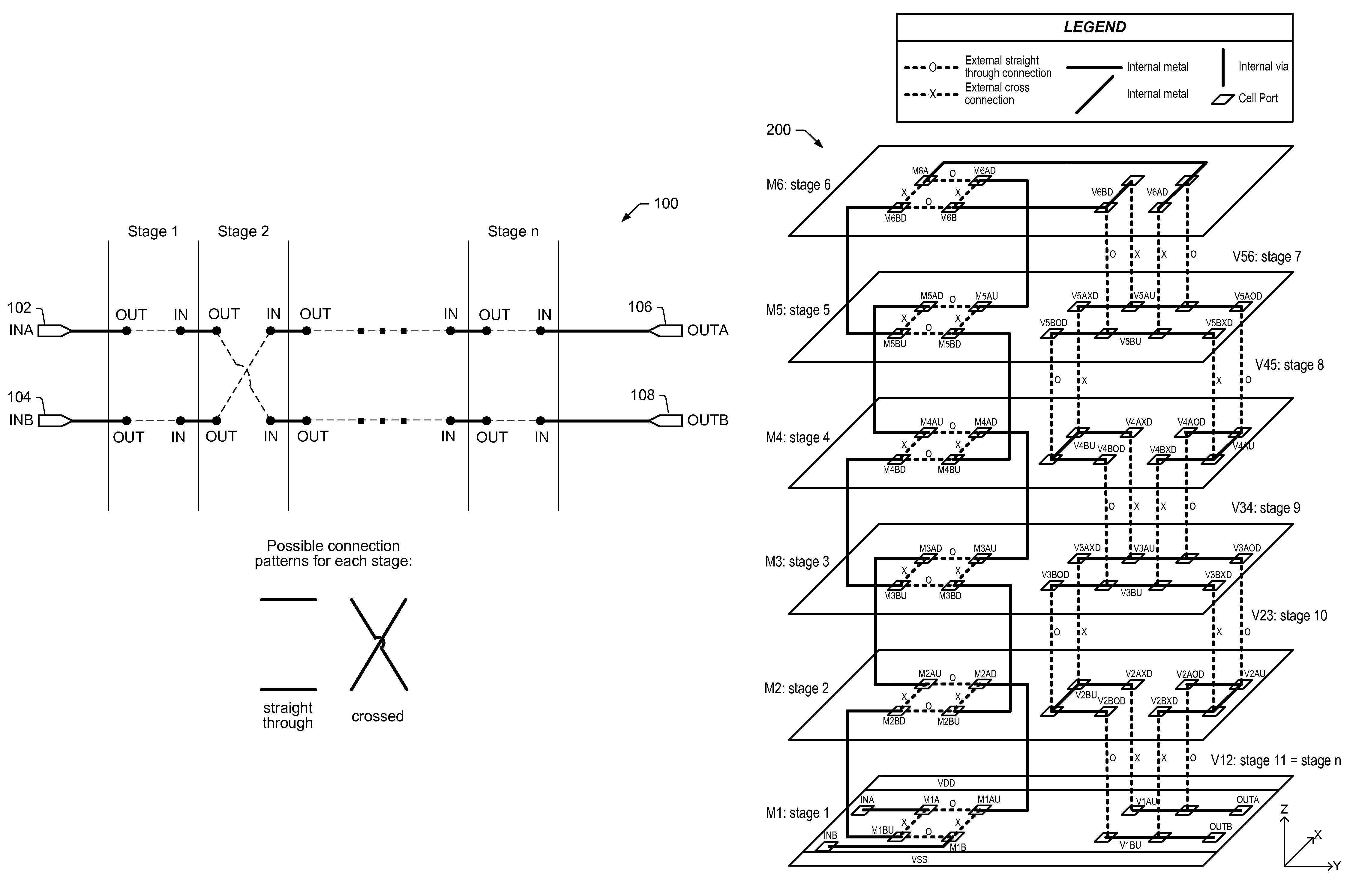 Patent Us8154053 Programmable Metal Elements And Via Integrated Circuit Popular Drawing