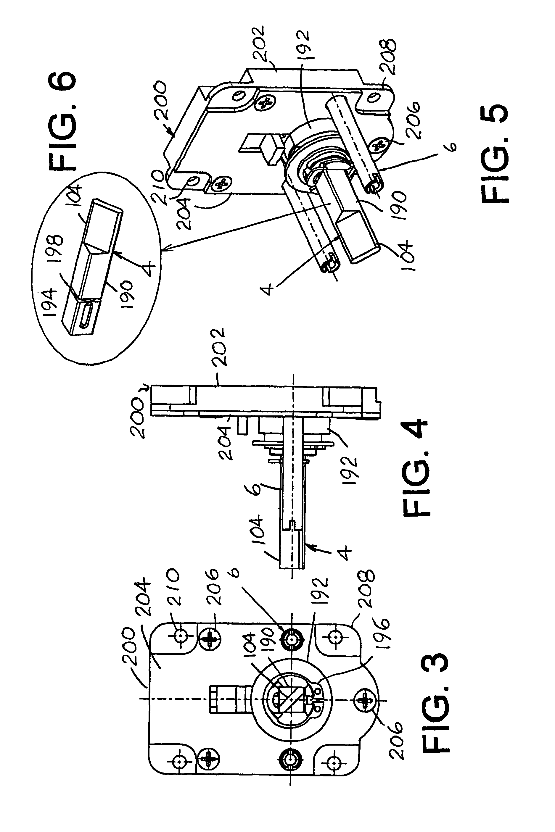 Patent Us8161780 Thumb Operated Door Lock Assembly