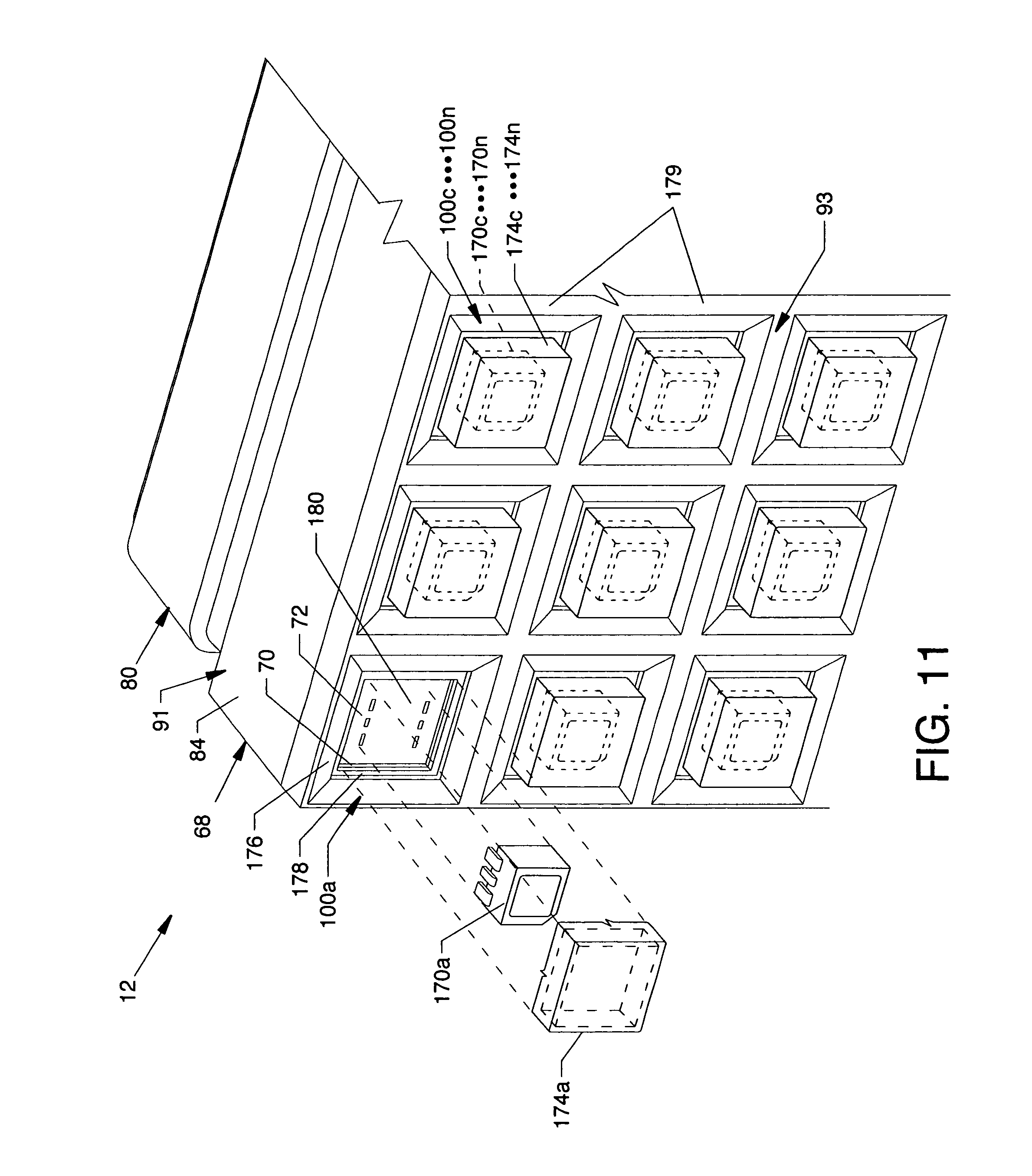 patent us8172097 - led display module