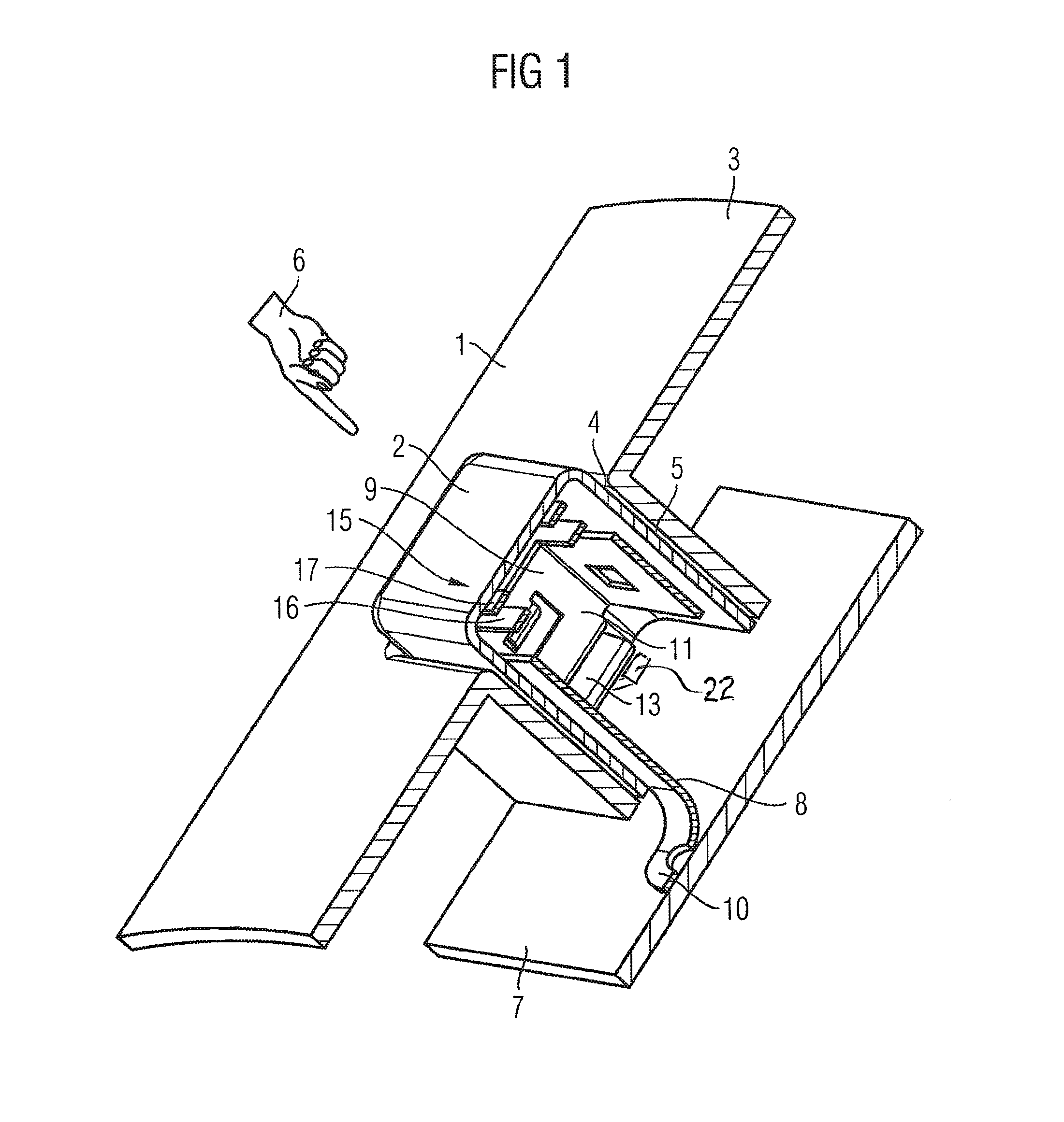 patent us8173925 - capacitive operating element