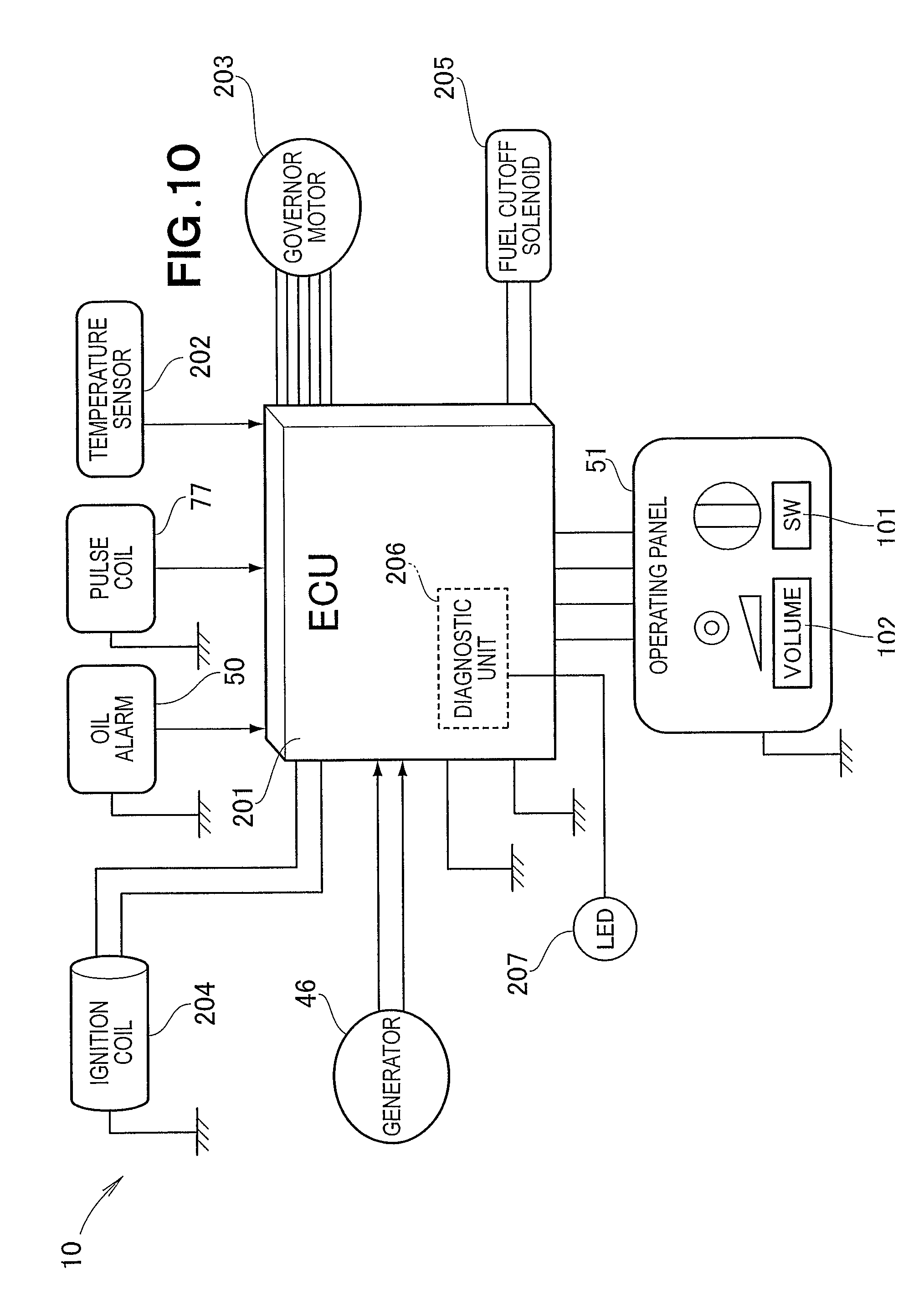 US08174140 20120508 D00010 patent us8174140 multipurpose engine having electrical wiring fg wilson control panel wiring diagram at reclaimingppi.co