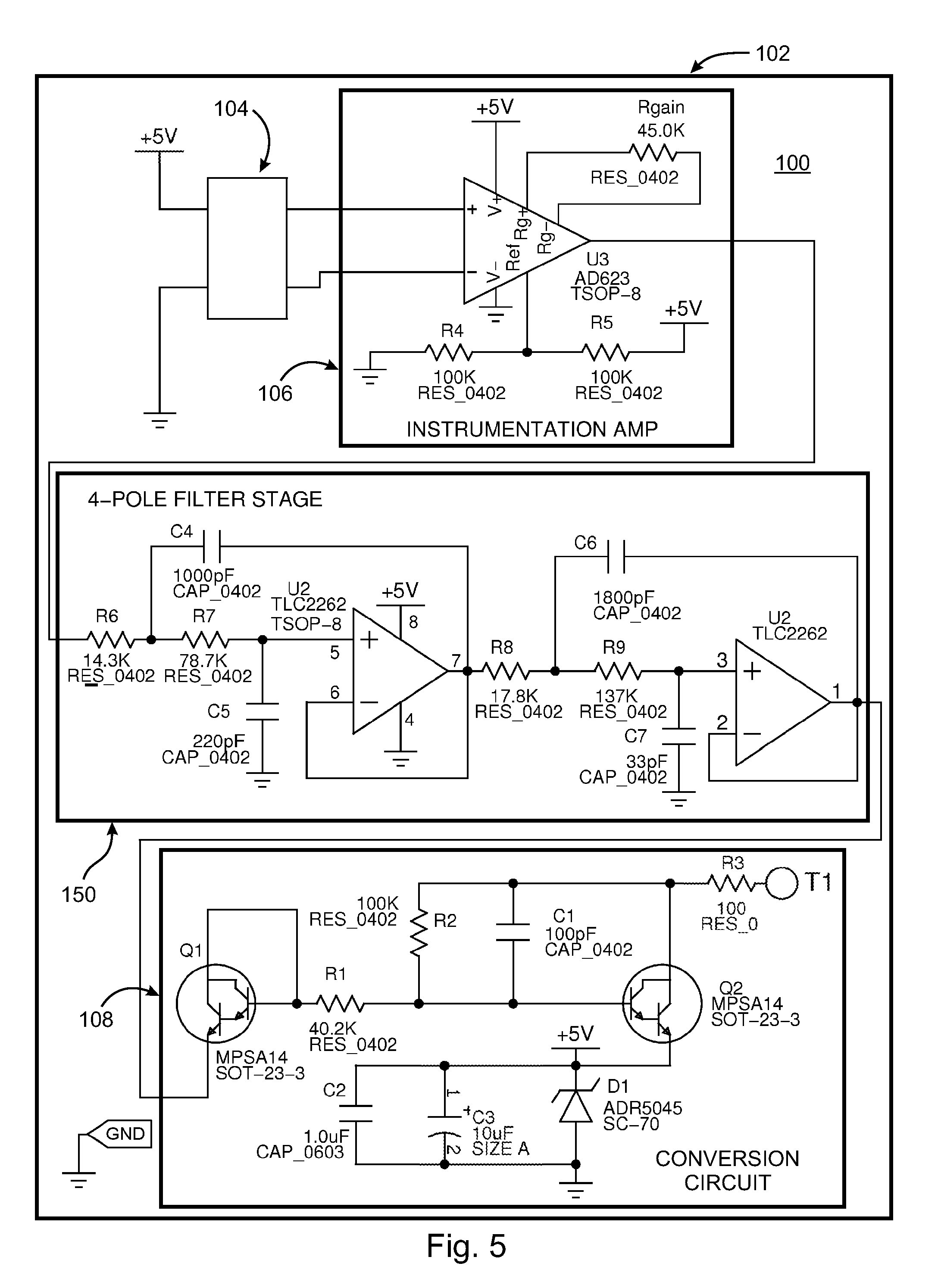 Piezoelectric Transducer Amplifier Circuit Manual Guide Wiring Patent Us8179121 Bridge Sensor With Collocated Electronics And Two Wire Interface Google Diagram 4 Pin