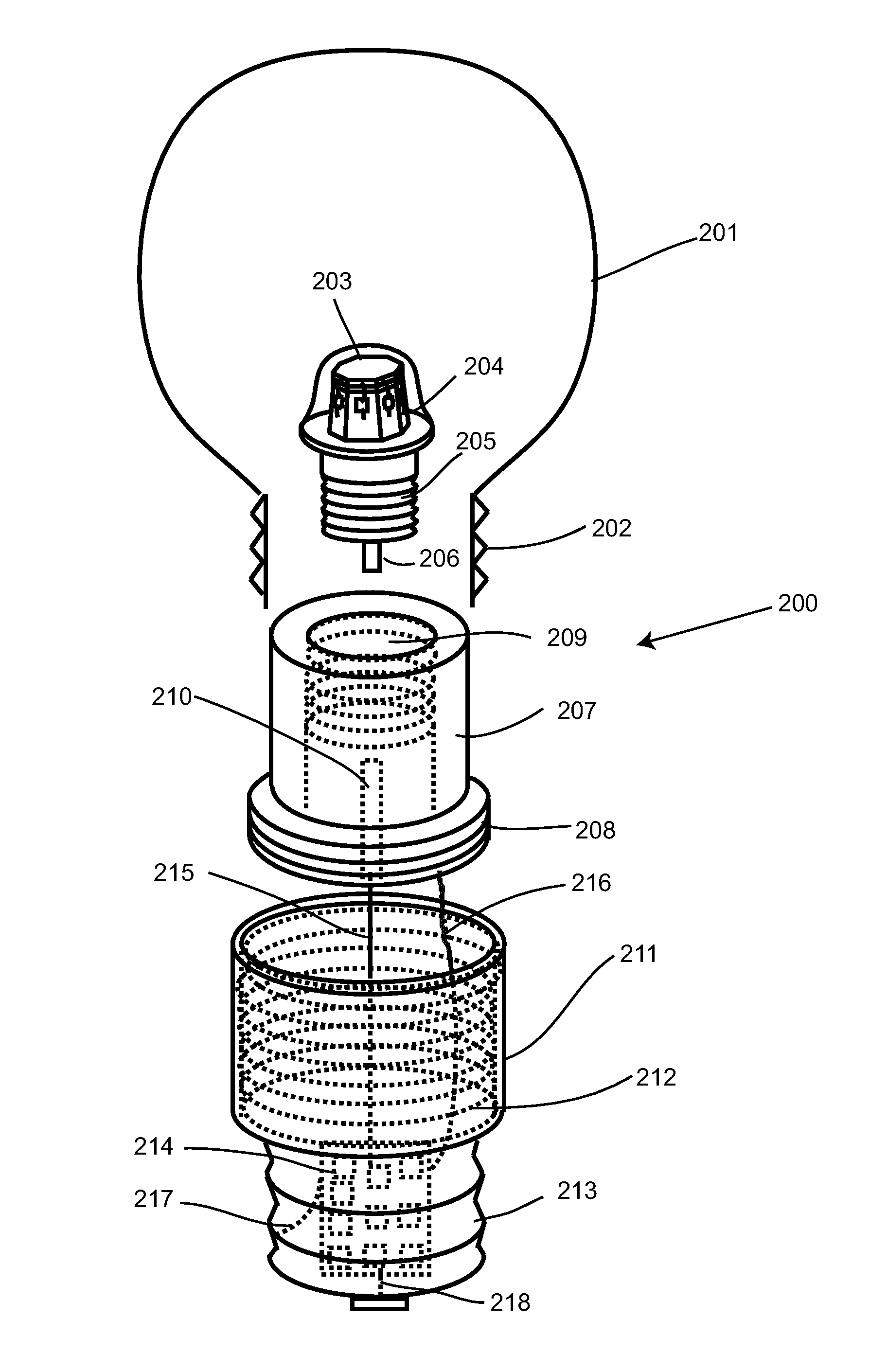 patent us8201985 - light bulb utilizing a replaceable led light source