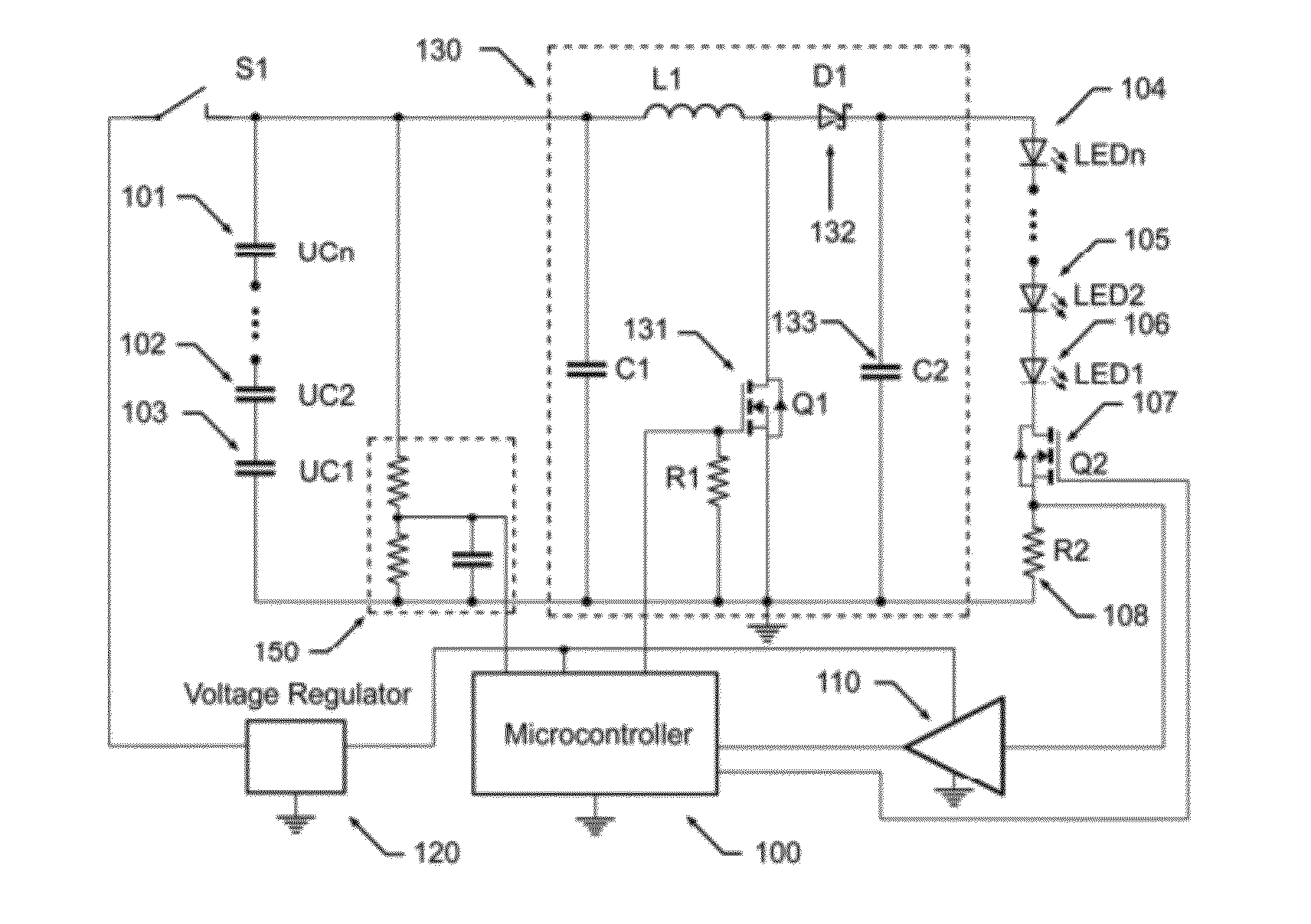 patent us8203281 - wide voltage  high efficiency led driver circuit