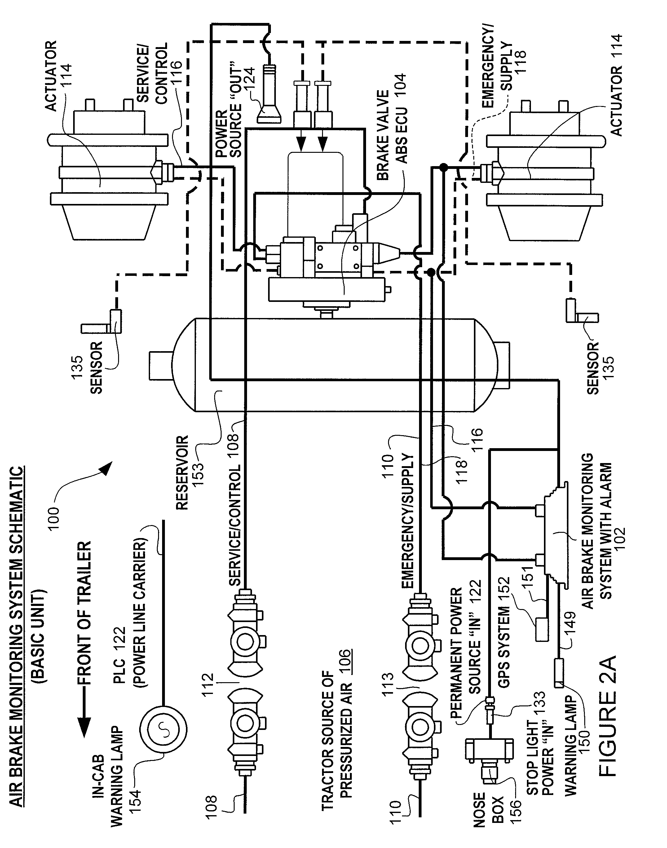 patent us8204668 - brake monitoring system