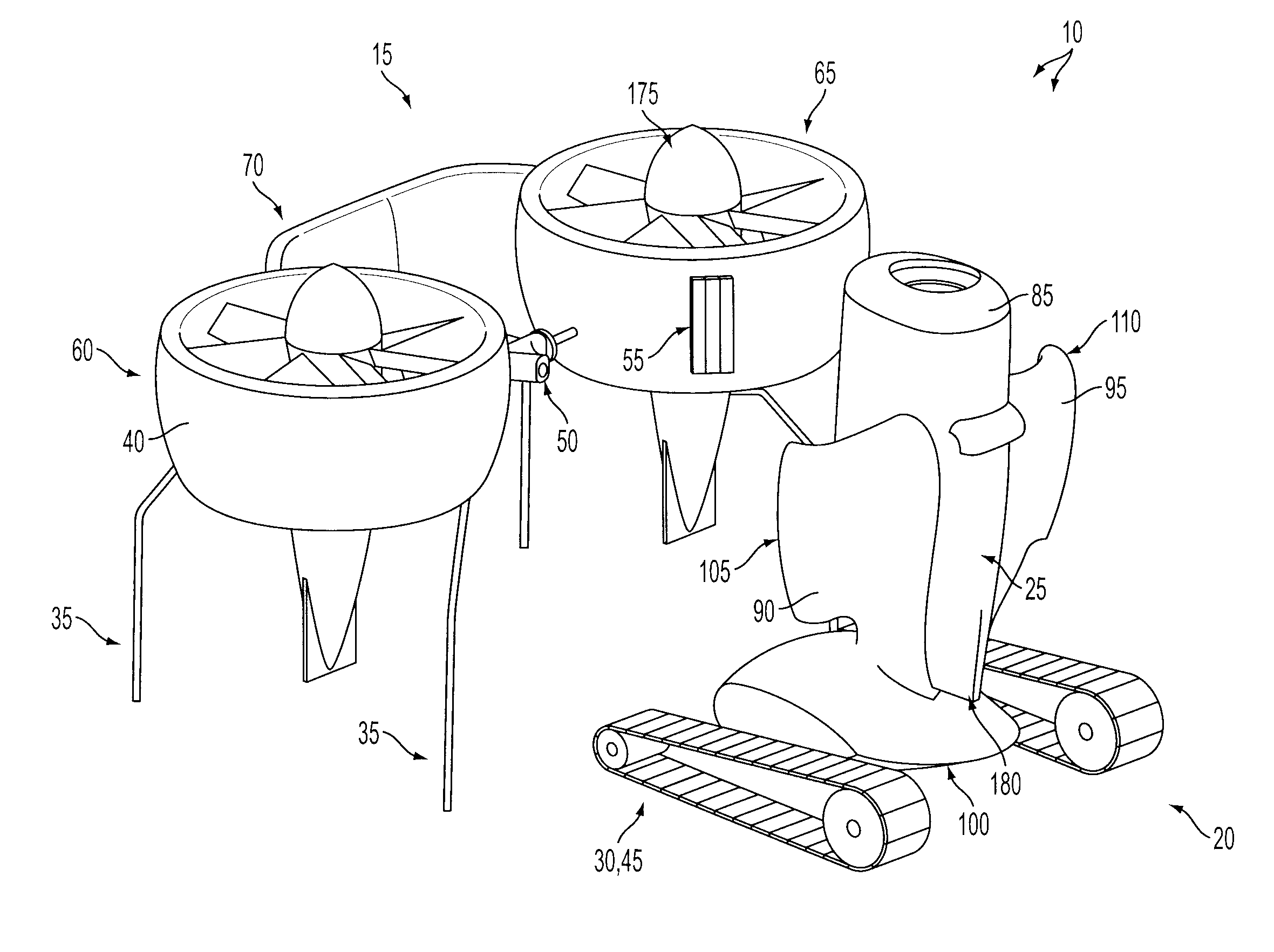 patent us8205820 - transforming unmanned aerial-to-ground vehicle