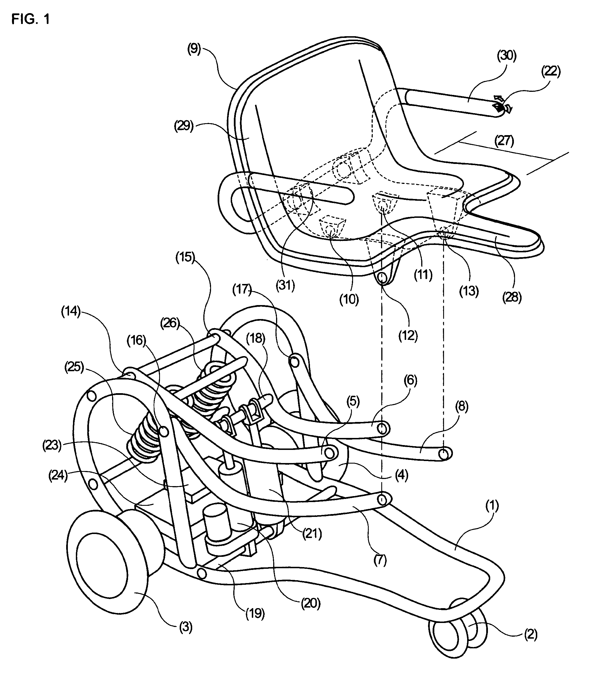 patent us8210295 - electric wheelchair