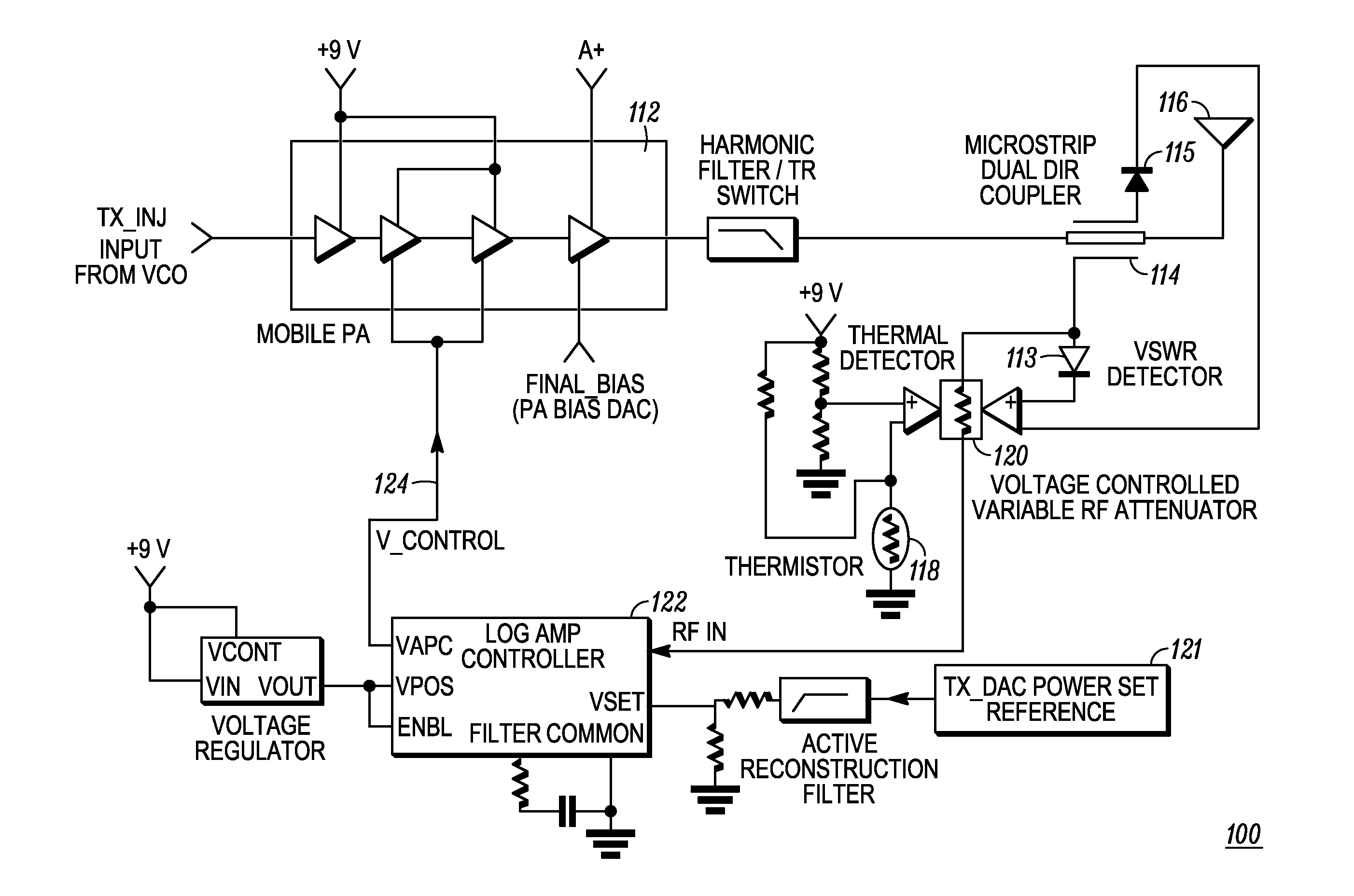 Patent Us8219045 Method And System For Controlling Transmitter Rf Circuit Diagram Drawing