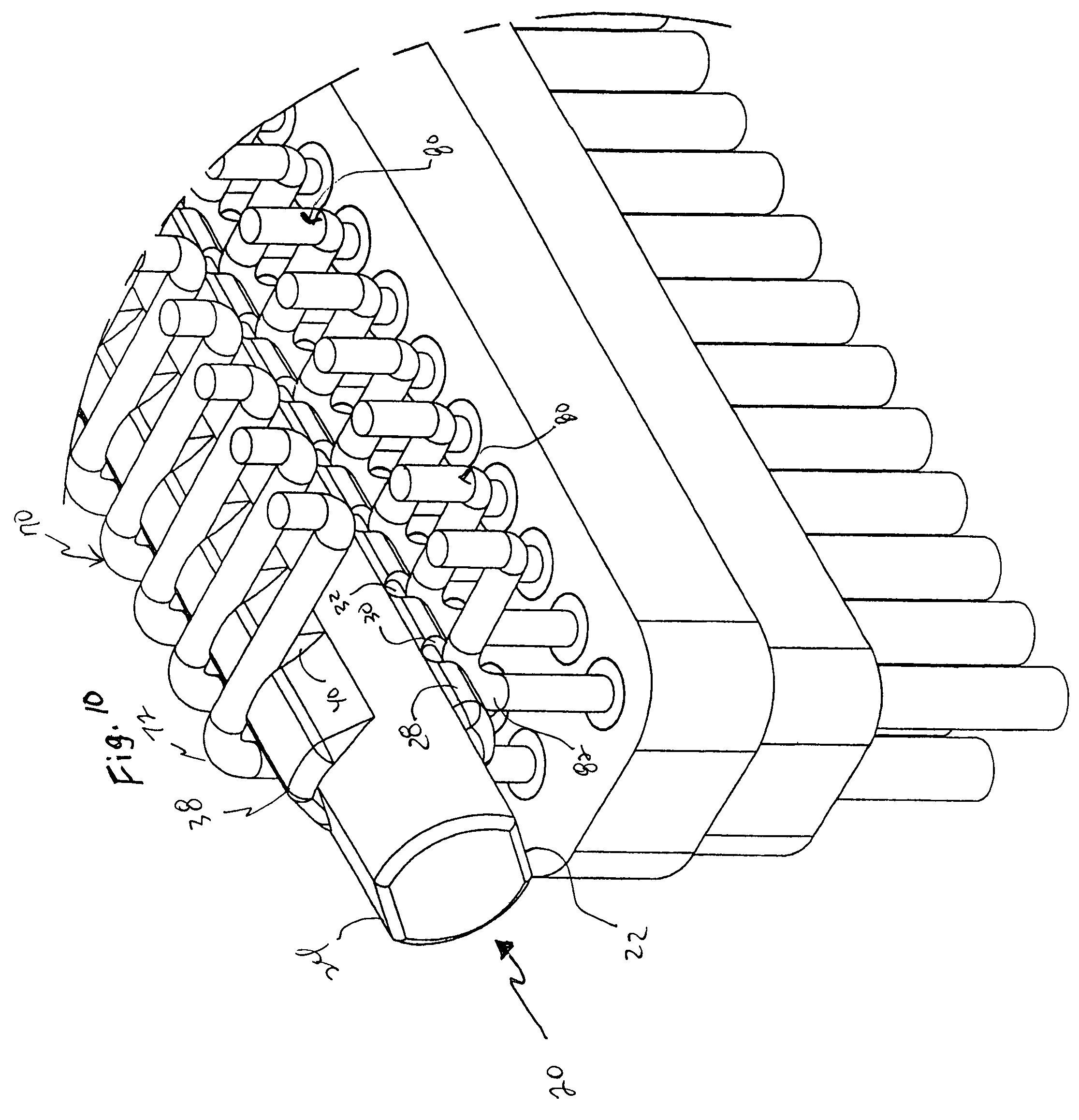 patent us8225475 - alignment device for fine pitch connector leads
