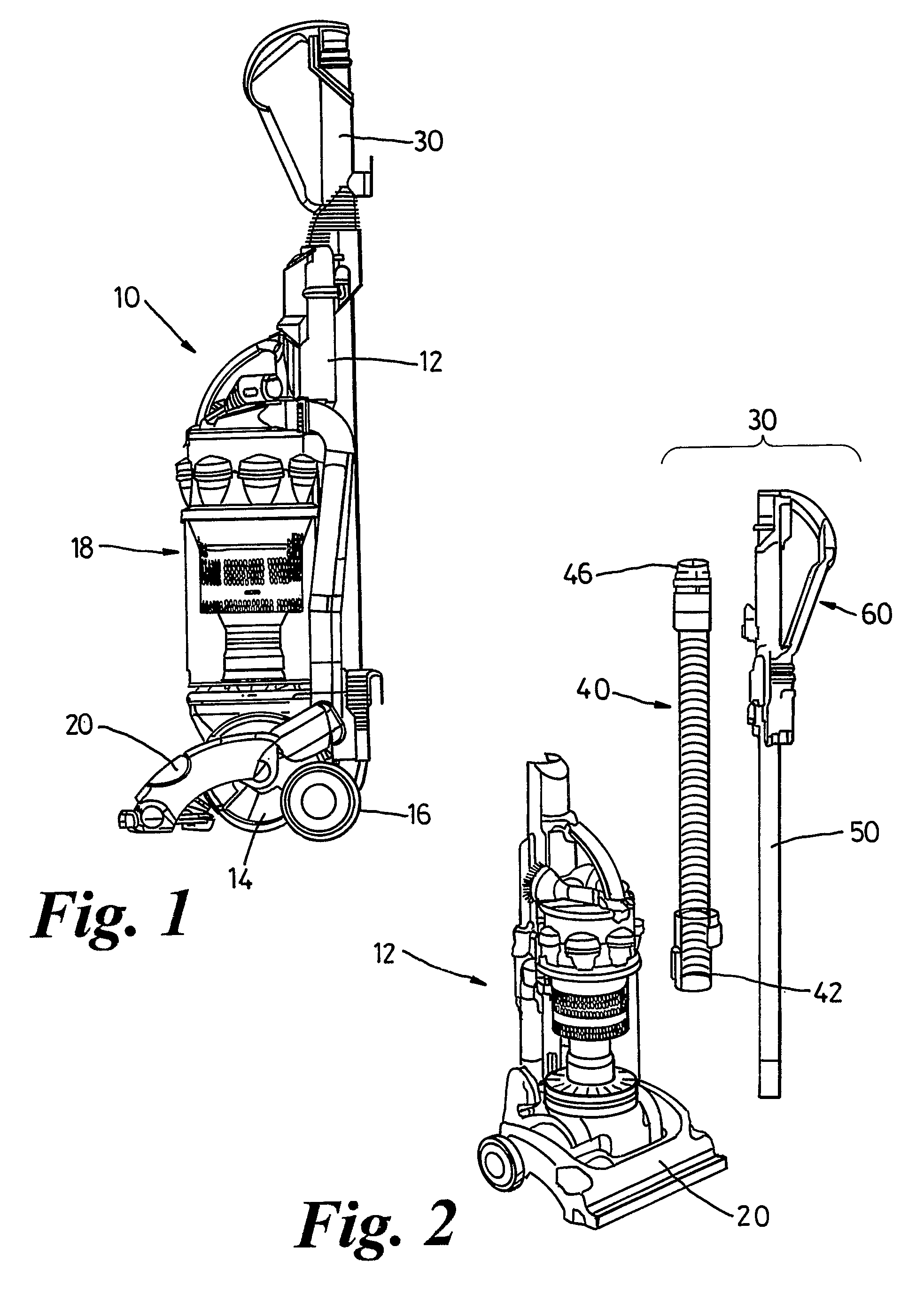 patent us8240003 - handle assembly for a cleaning appliance