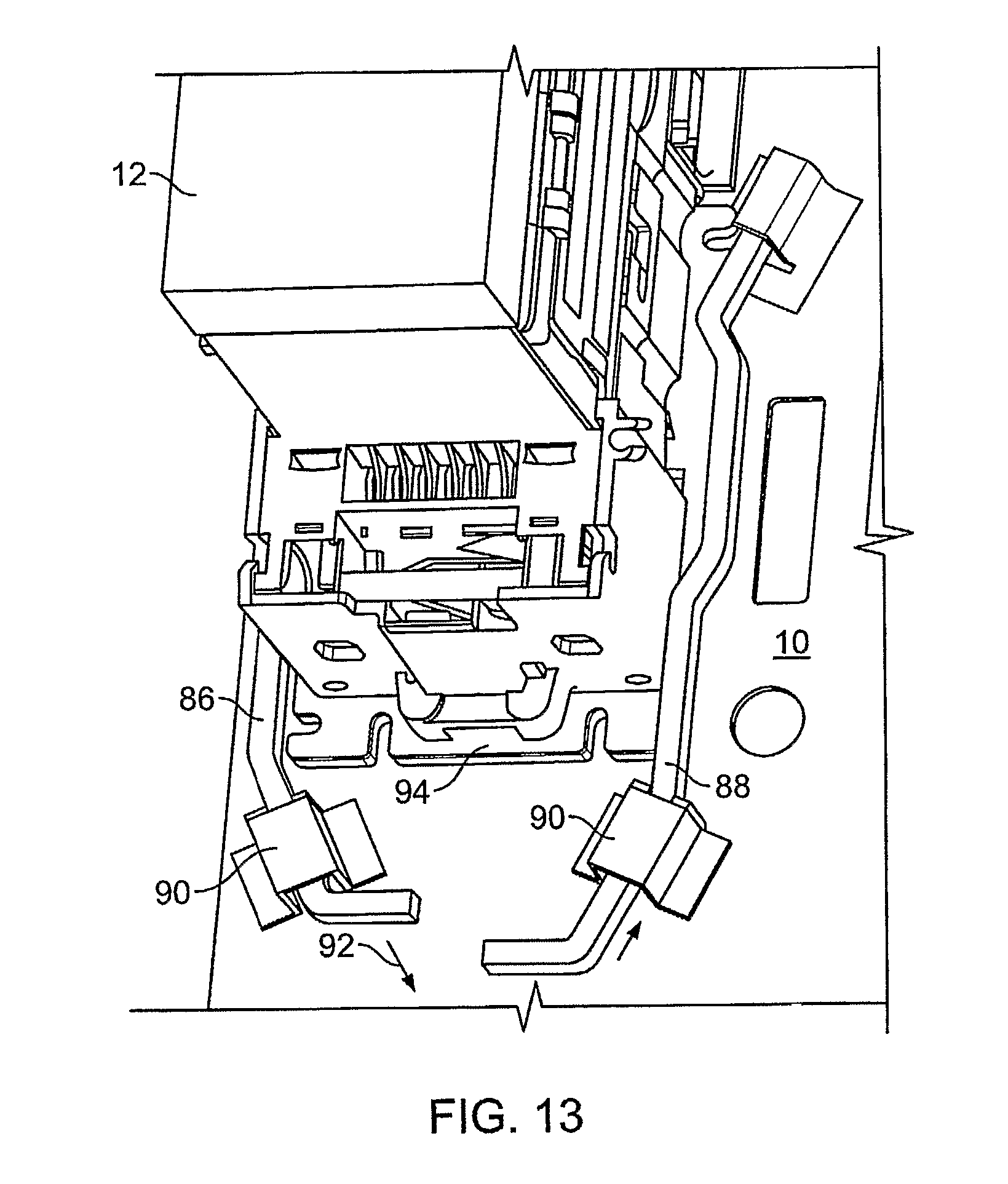 patent us8240451 - techniques for mounting a peripheral device in a vending machine