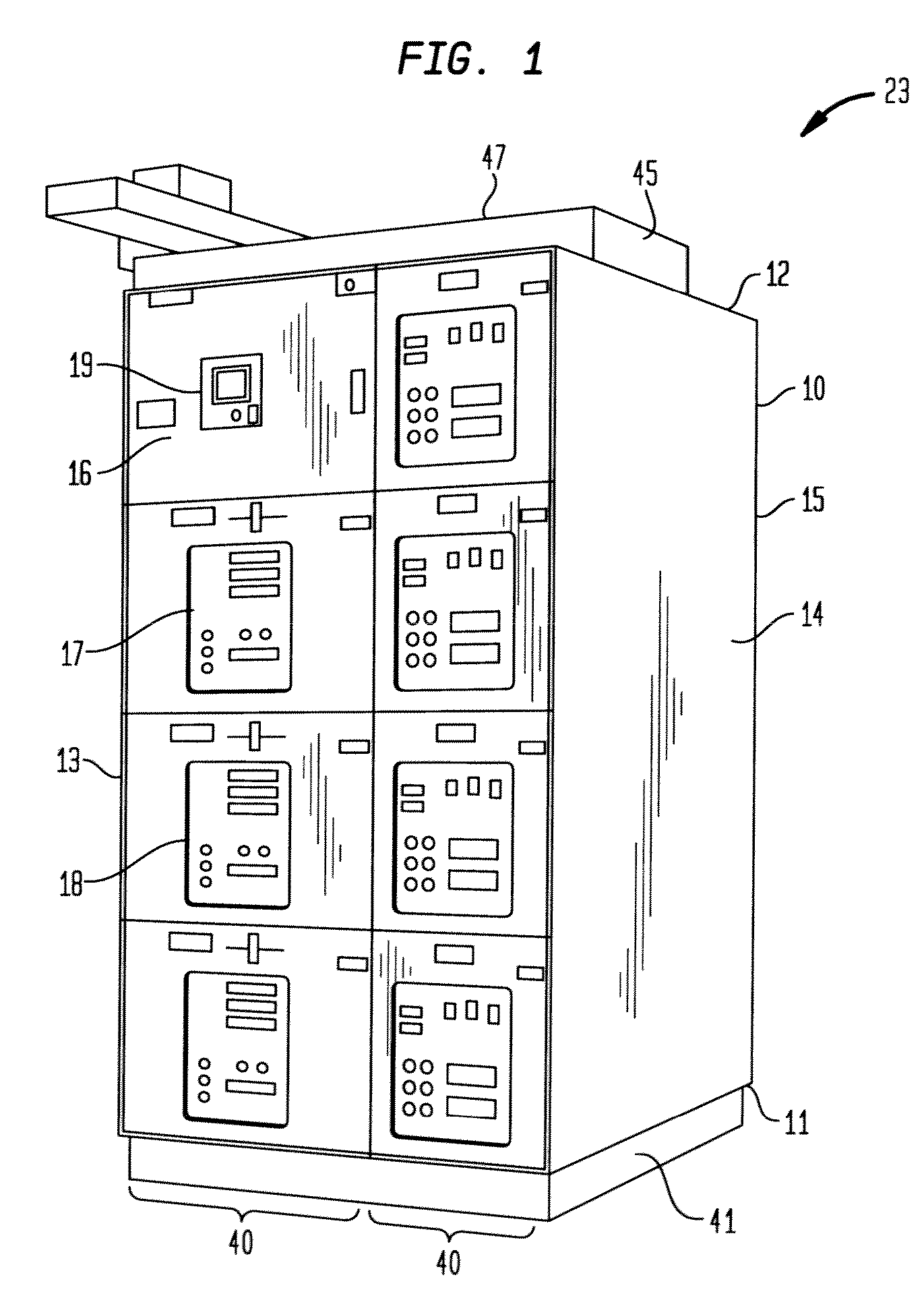 patent us8242395 - circuit breaker compartment arc flash venting system