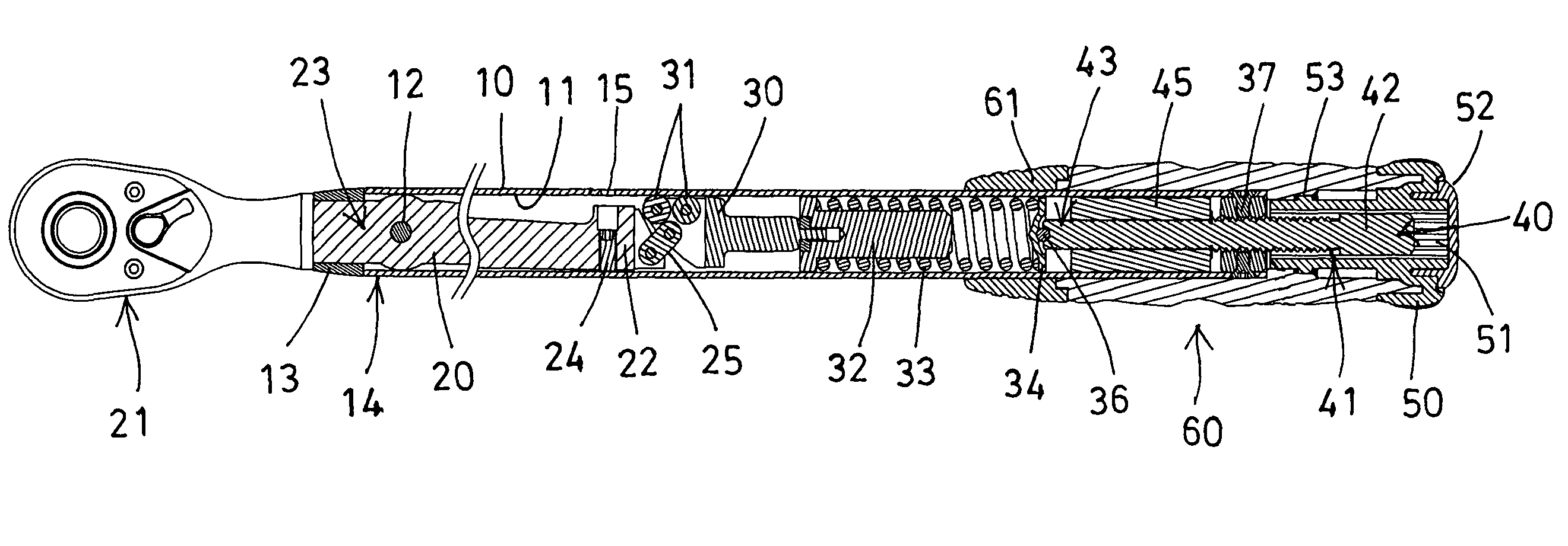 Patent US8245606 - Adjustable torque wrench having lock ...