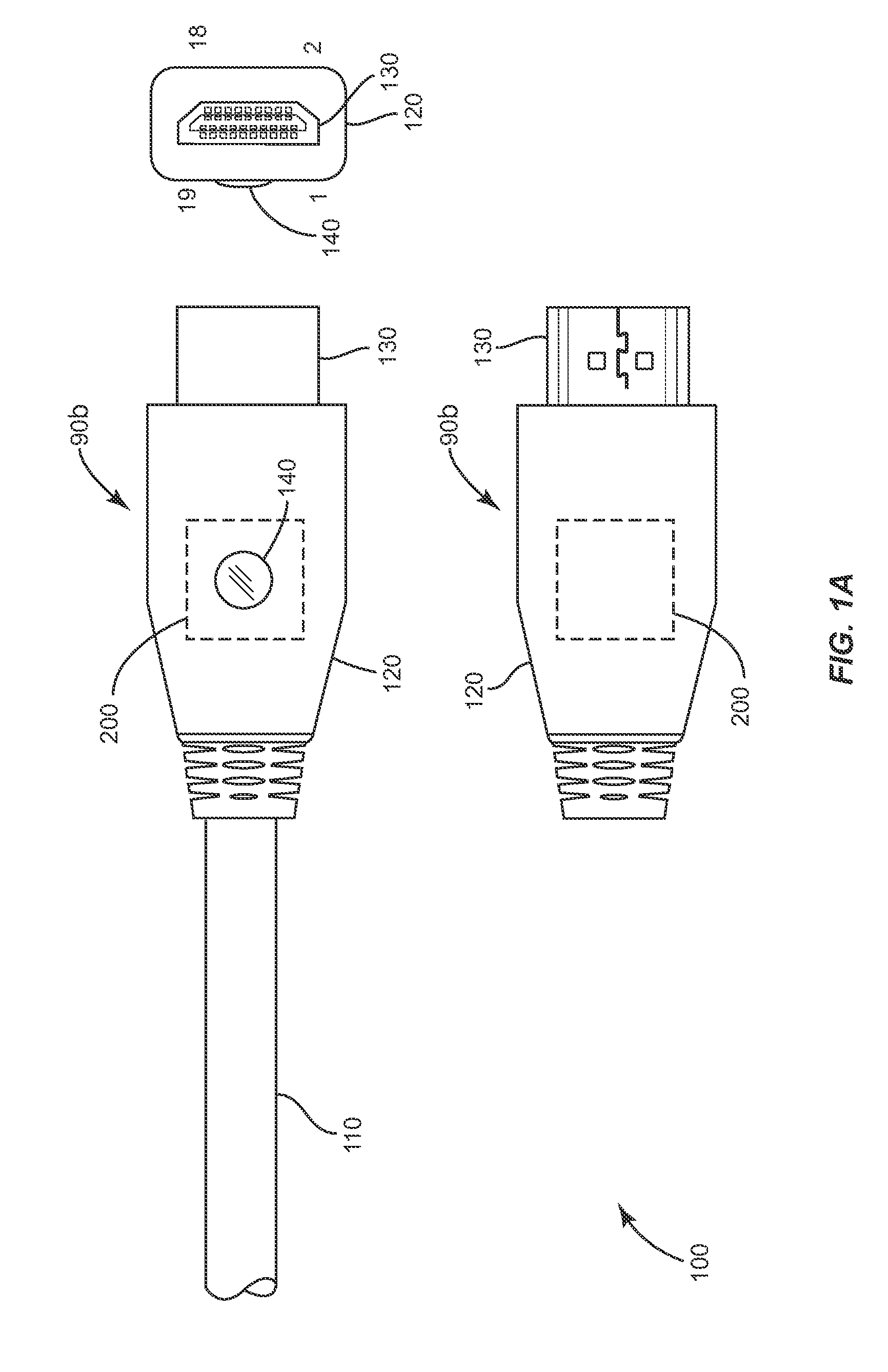 patent us8251740 - hdmi plug and cable assembly
