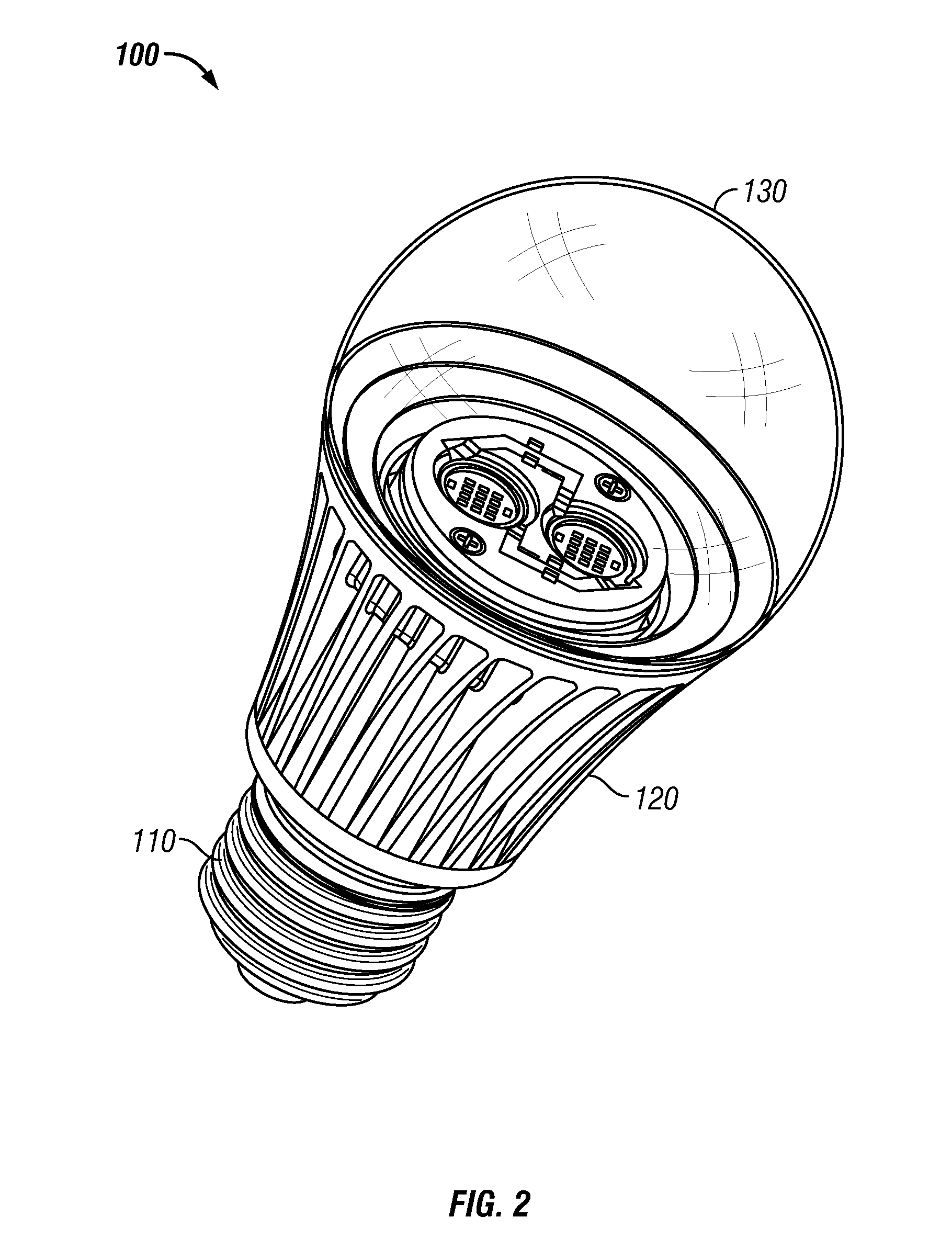patent us8253336 - led lamp for producing biologically-corrected light