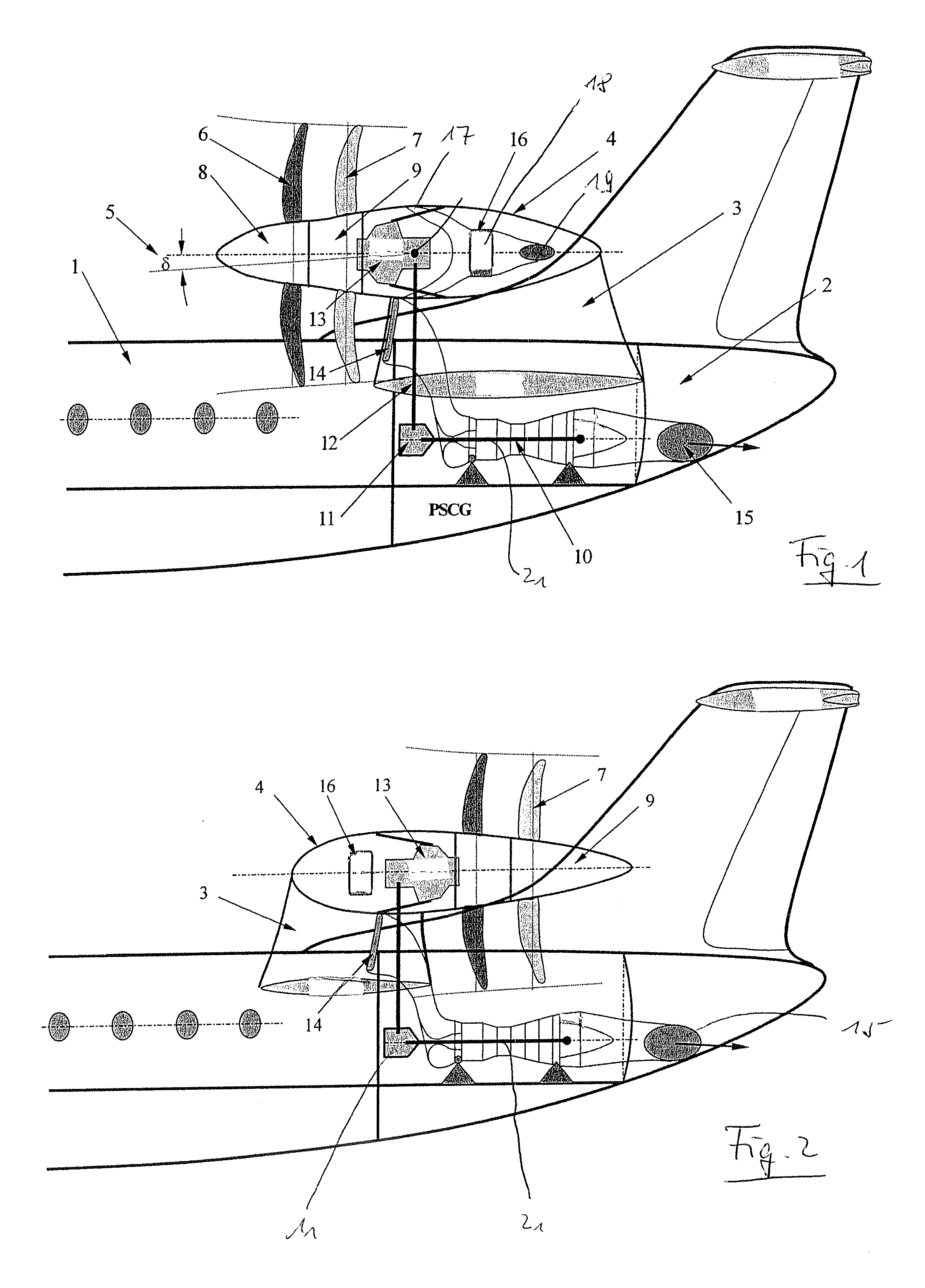 Patent Us8256709 Aircraft With Tail Propeller Engine