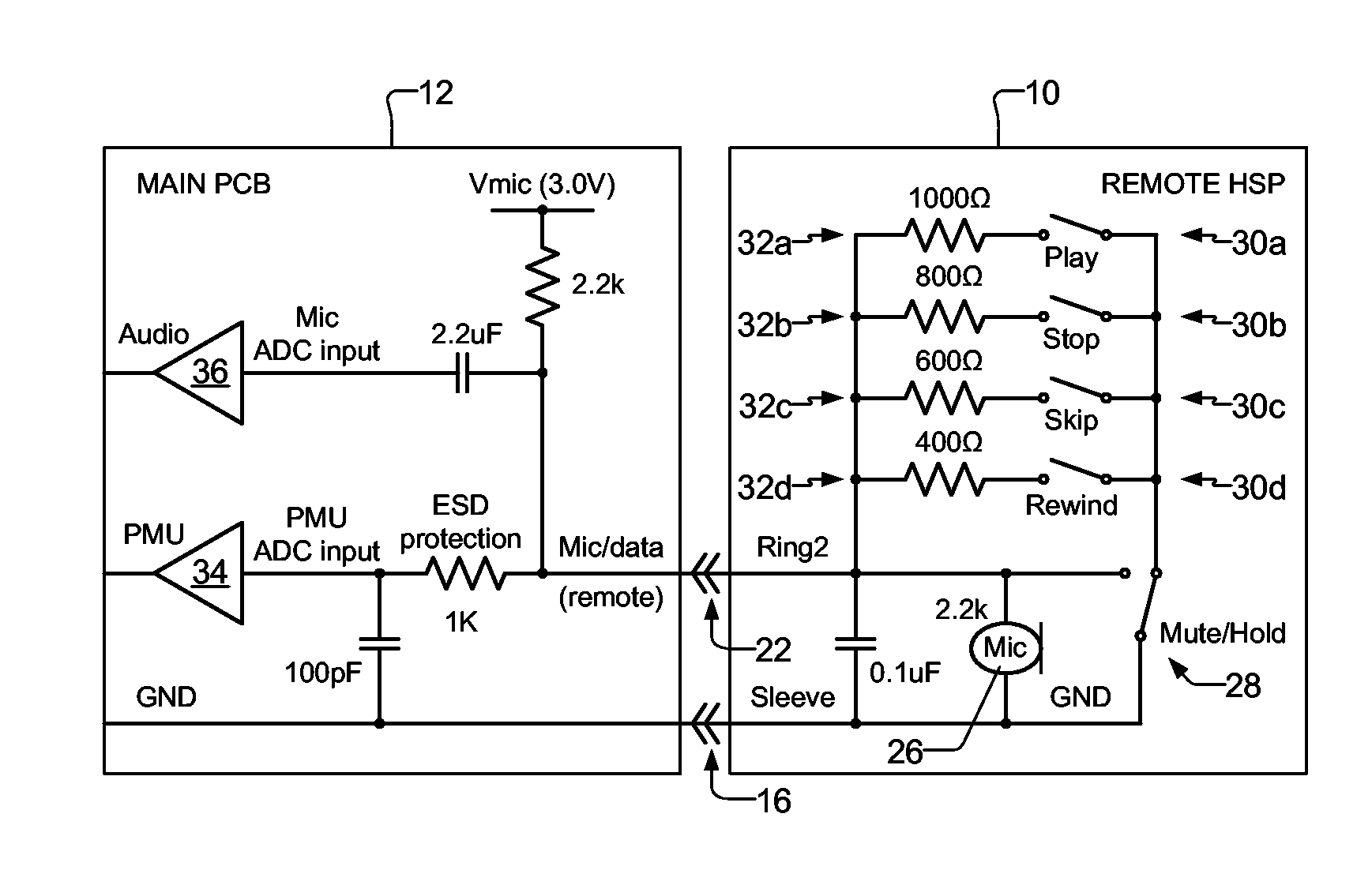 patent us headset remote control patents patent drawing