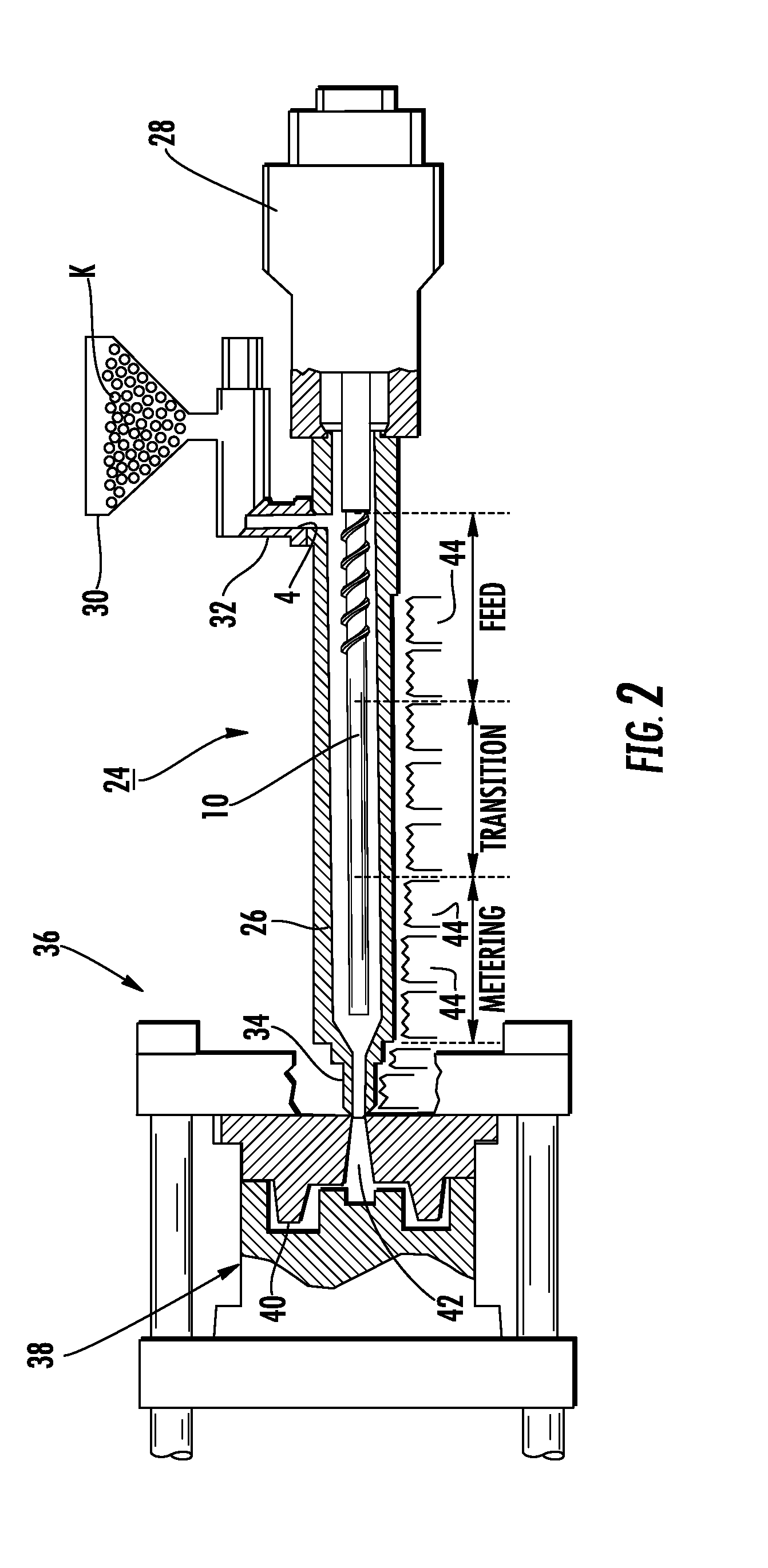 patent us8267149 - screw design and method for metal injection molding