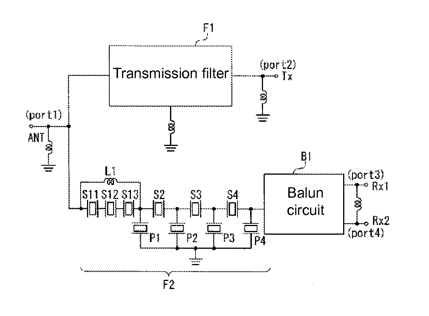 Patent Us8279021 Duplexer Google Patents F Type Pcb Balun Circuit Diagram Drawing