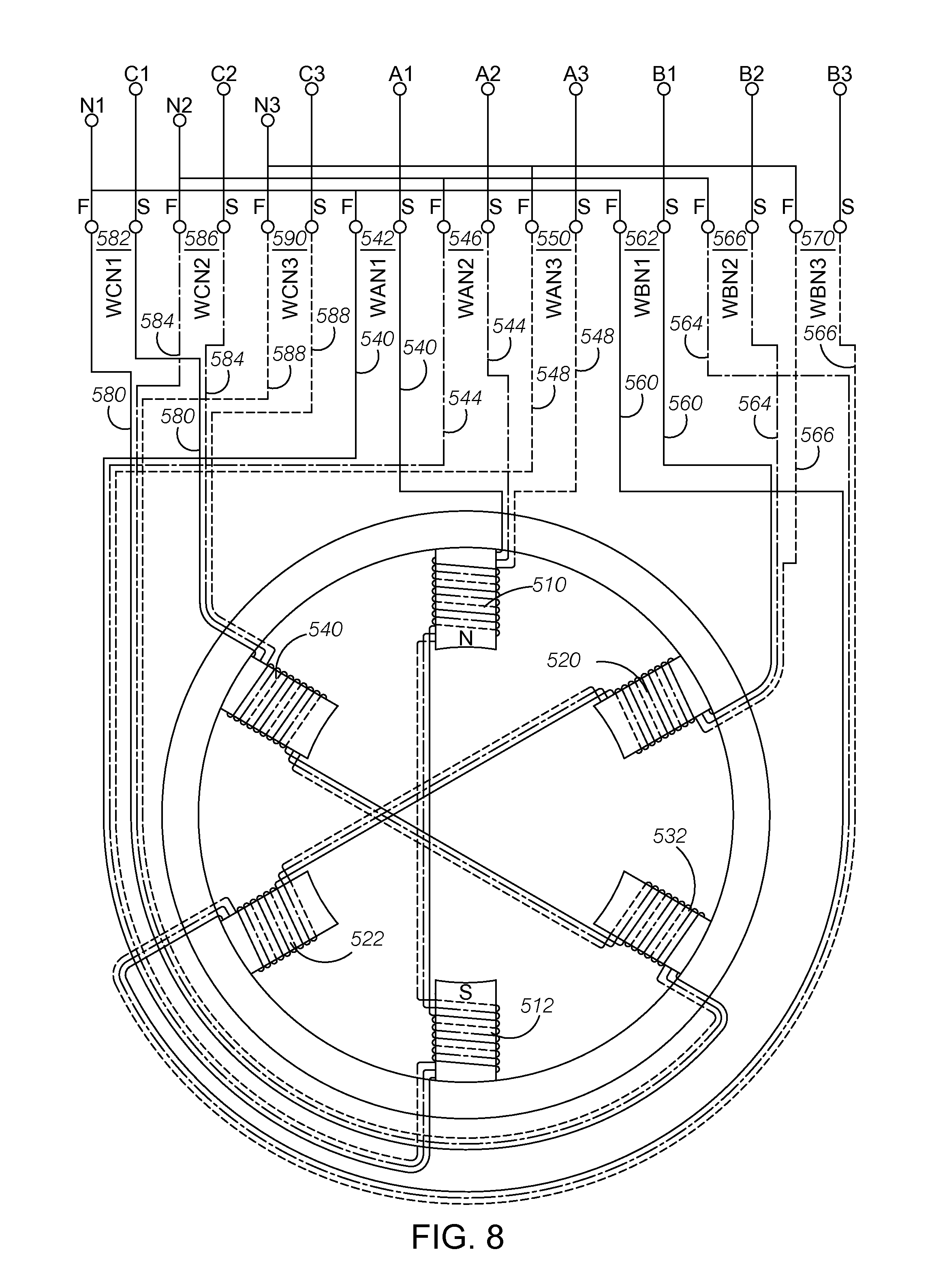 Motor Stator Winding Diagram