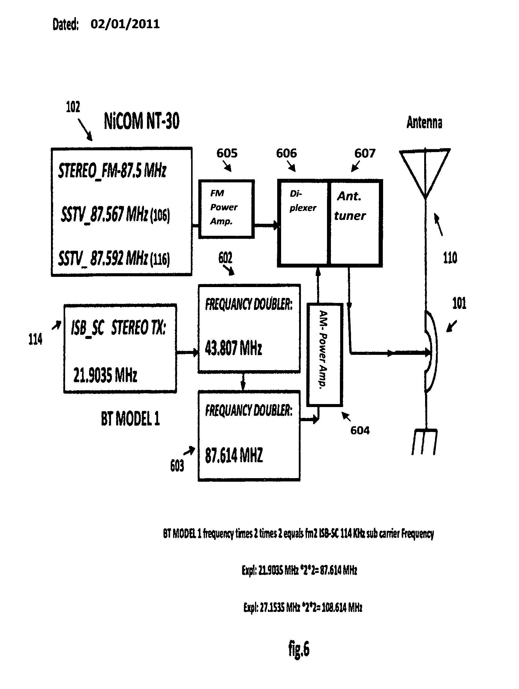 Patent Us8285215 Radio Vision Electronic Network Analog Output Sidebandsuppressed Carrier Rf Modulator Fm Modulation Block Diagram Drawing