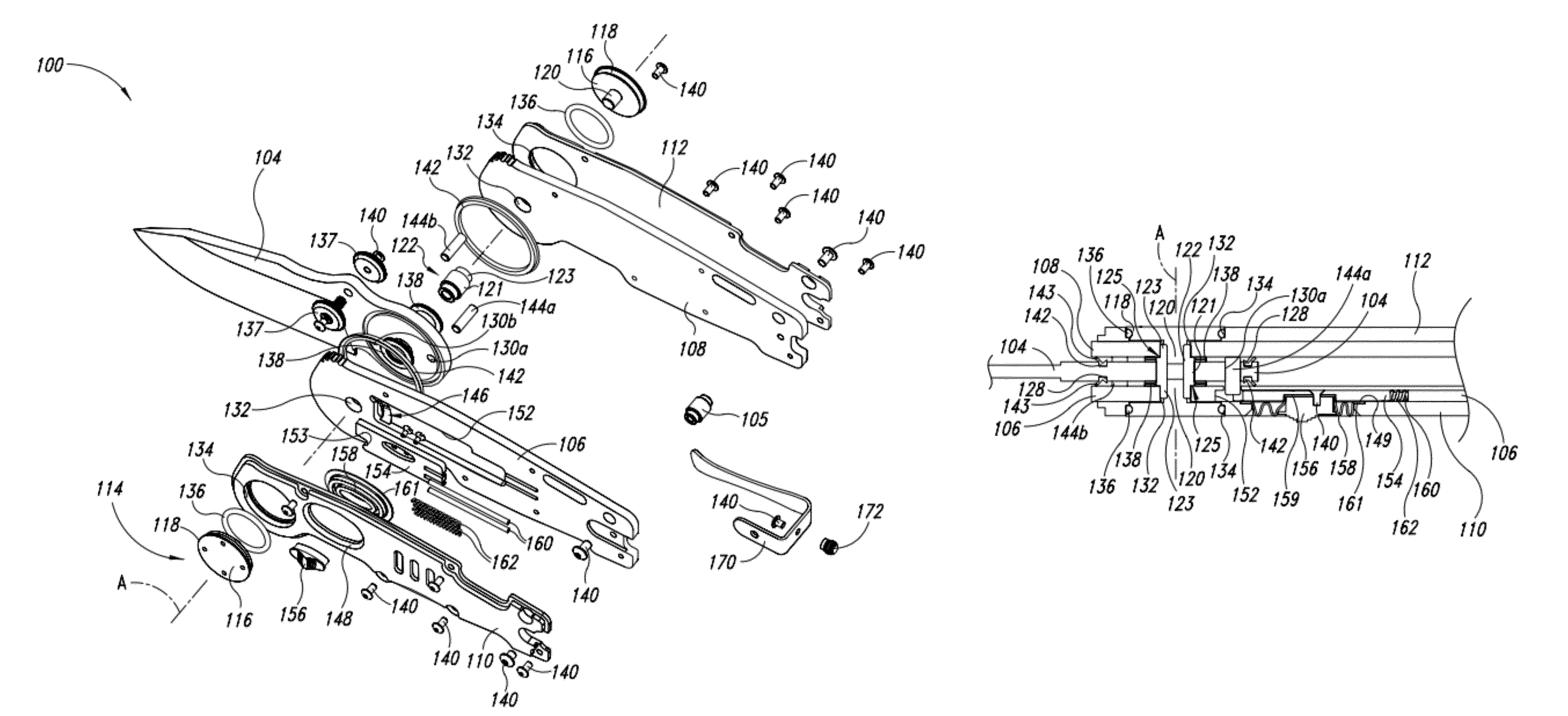 Patent Us8291597 Folding Knife With Sealed Mechanism