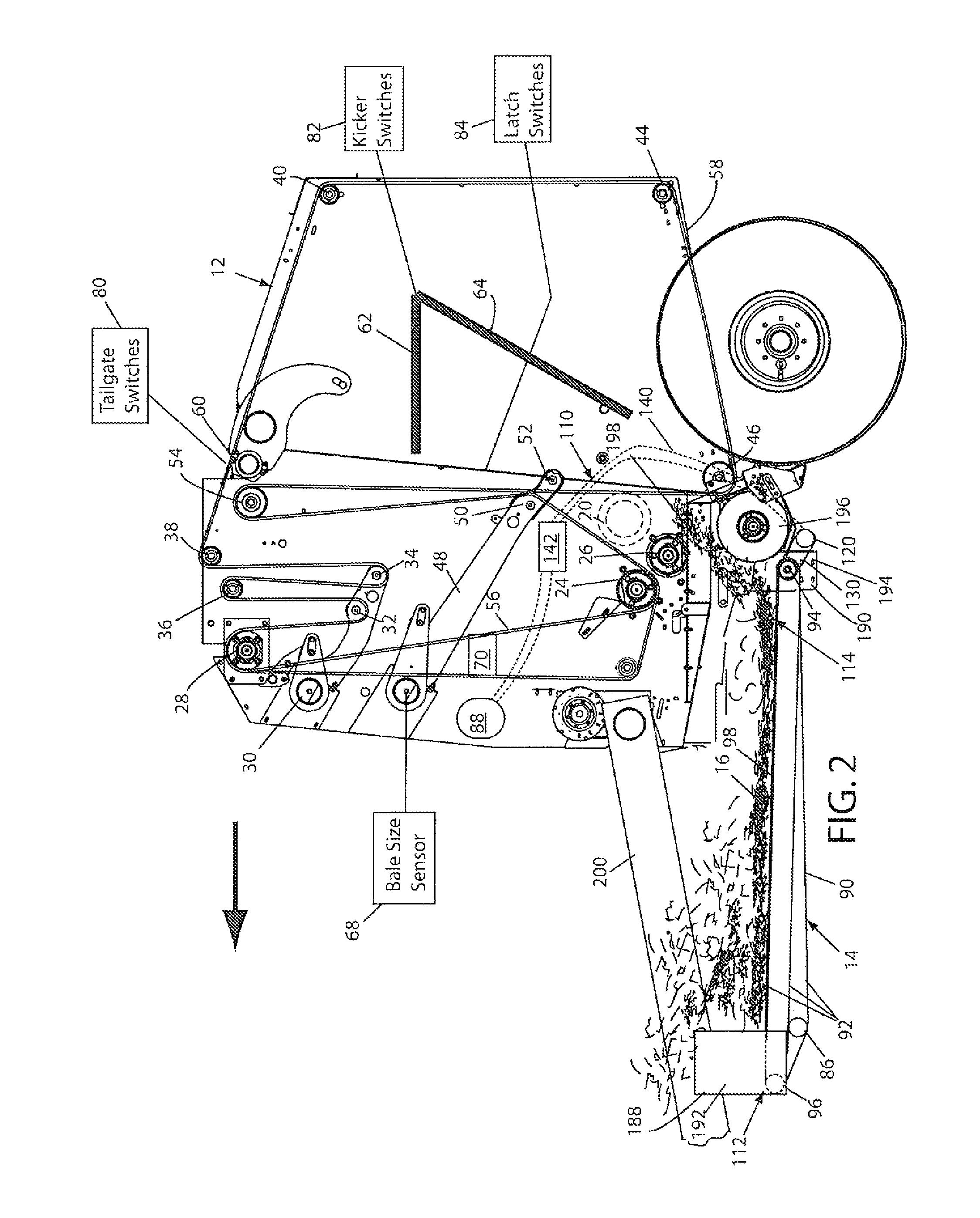patent us8291687 - continuous round baler