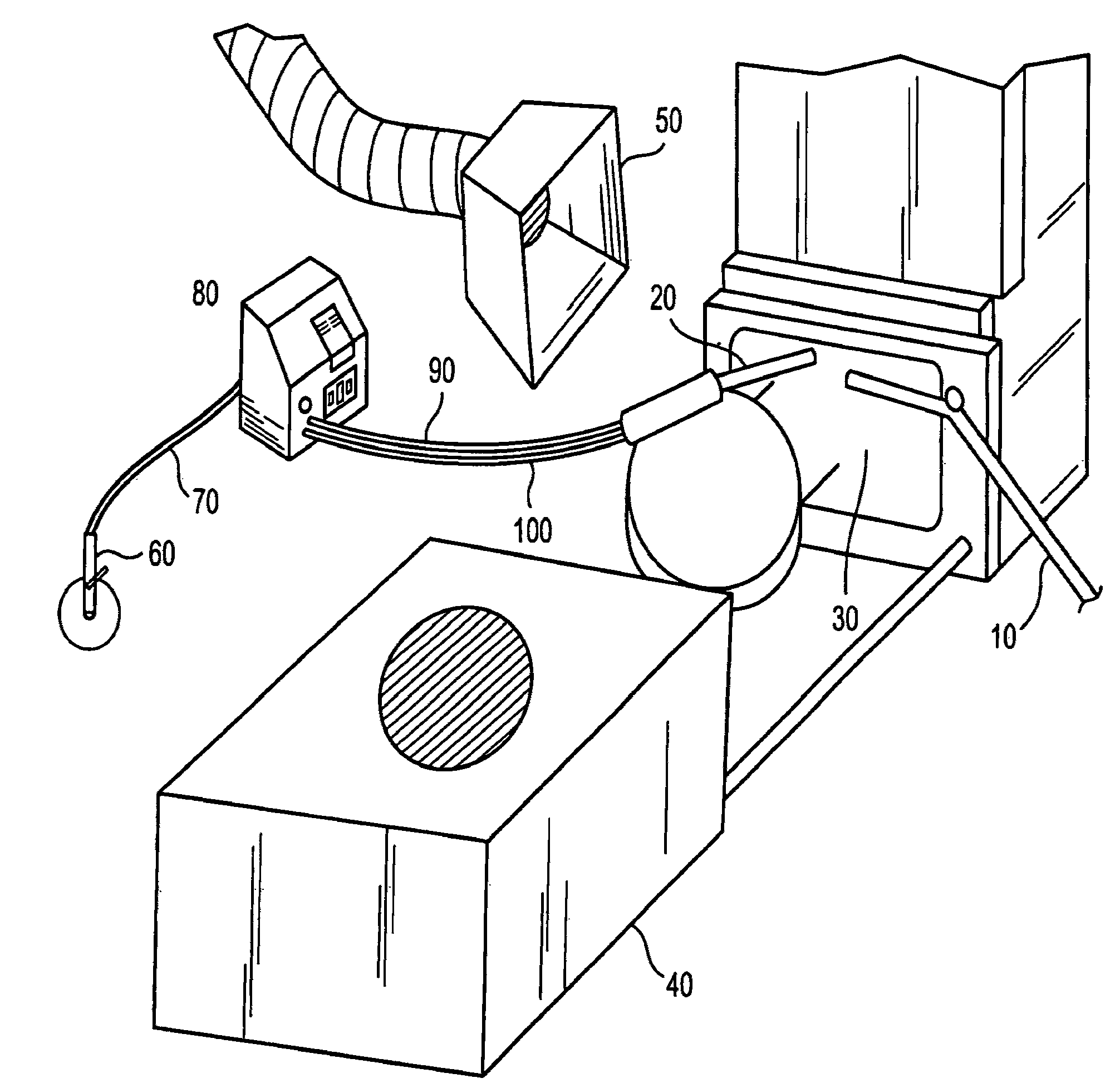 patent us8292698 on line chamber cleaning using dry ice blasting Stationary Sand Blasting Machine patent drawing