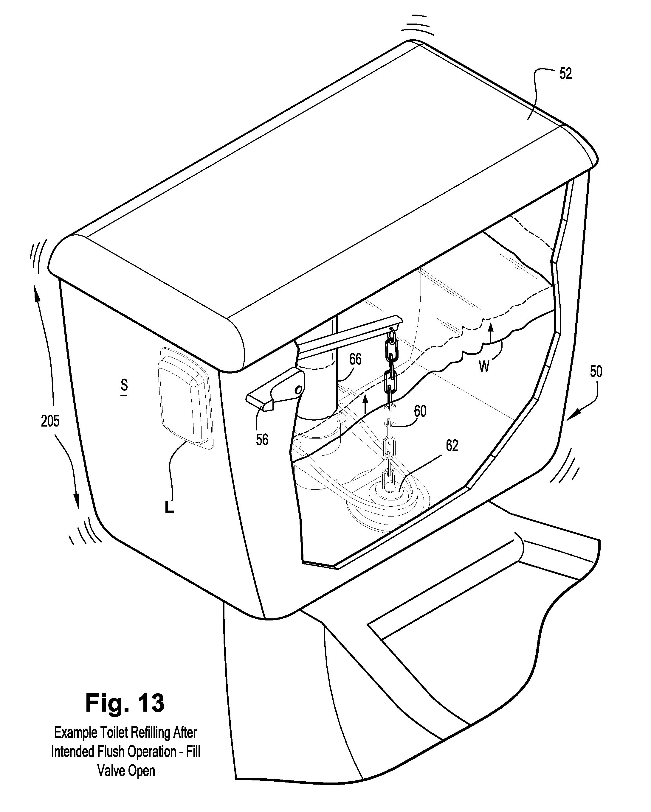 patent us8310369 detecting unintended flush toilet water flow NEC Test patent drawing