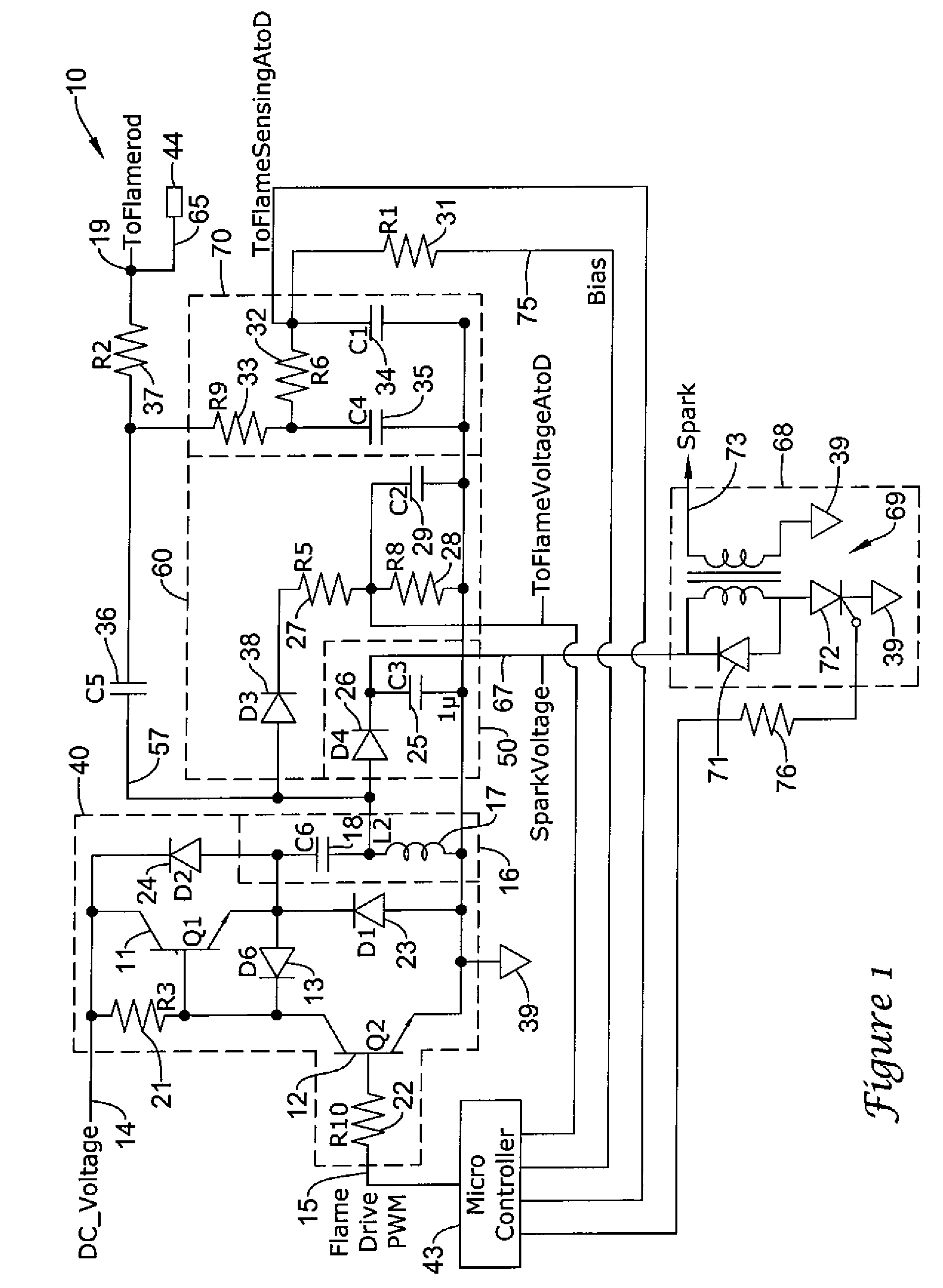 Flame Sensor Wiring Diagram 27 Images 5r55e Us08310801 20121113 D00001 Patent Us8310801 Sensing Voltage Dependent On Application At