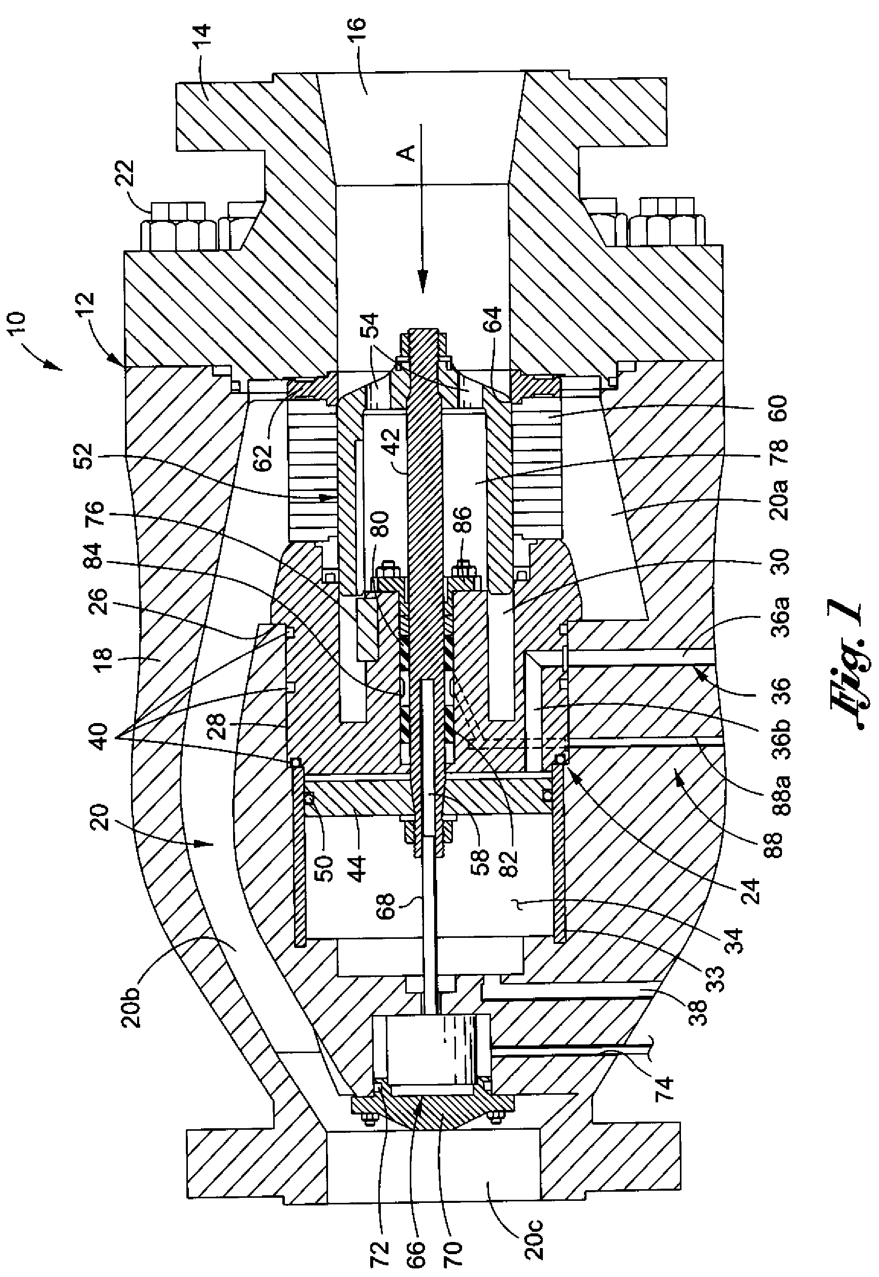 Patent US8312893 - Axial drag valve with internal hub