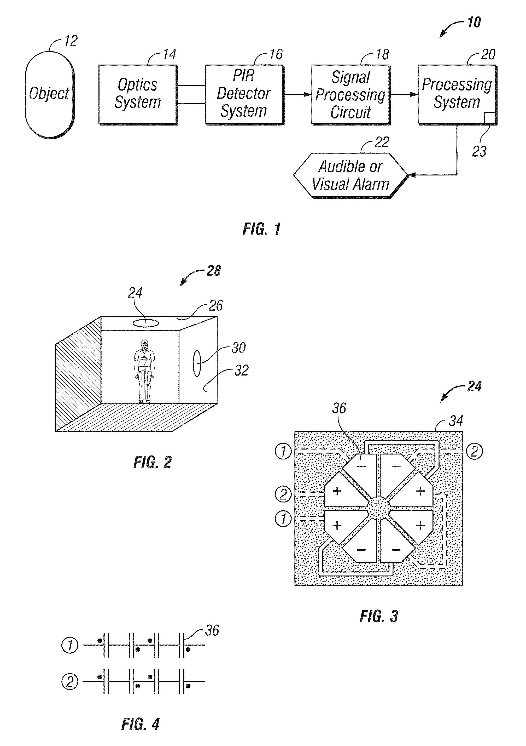 Patent Us8314390 Pir Motion Sensor System Google Patents Sensors Circuit Using Integrated Pyroelectric Drawing