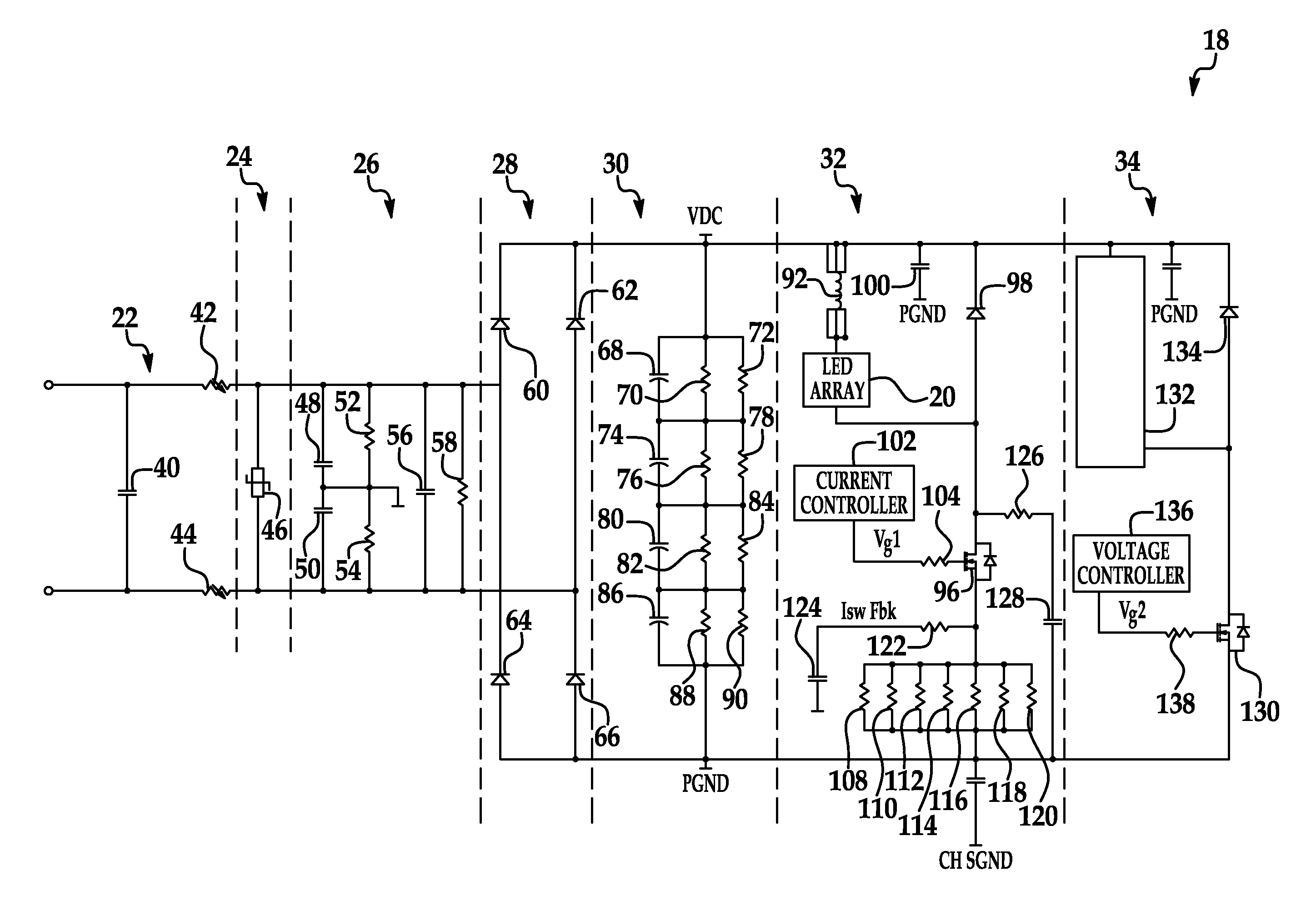 patent us8330381 - electronic circuit for dc conversion of fluorescent lighting ballast