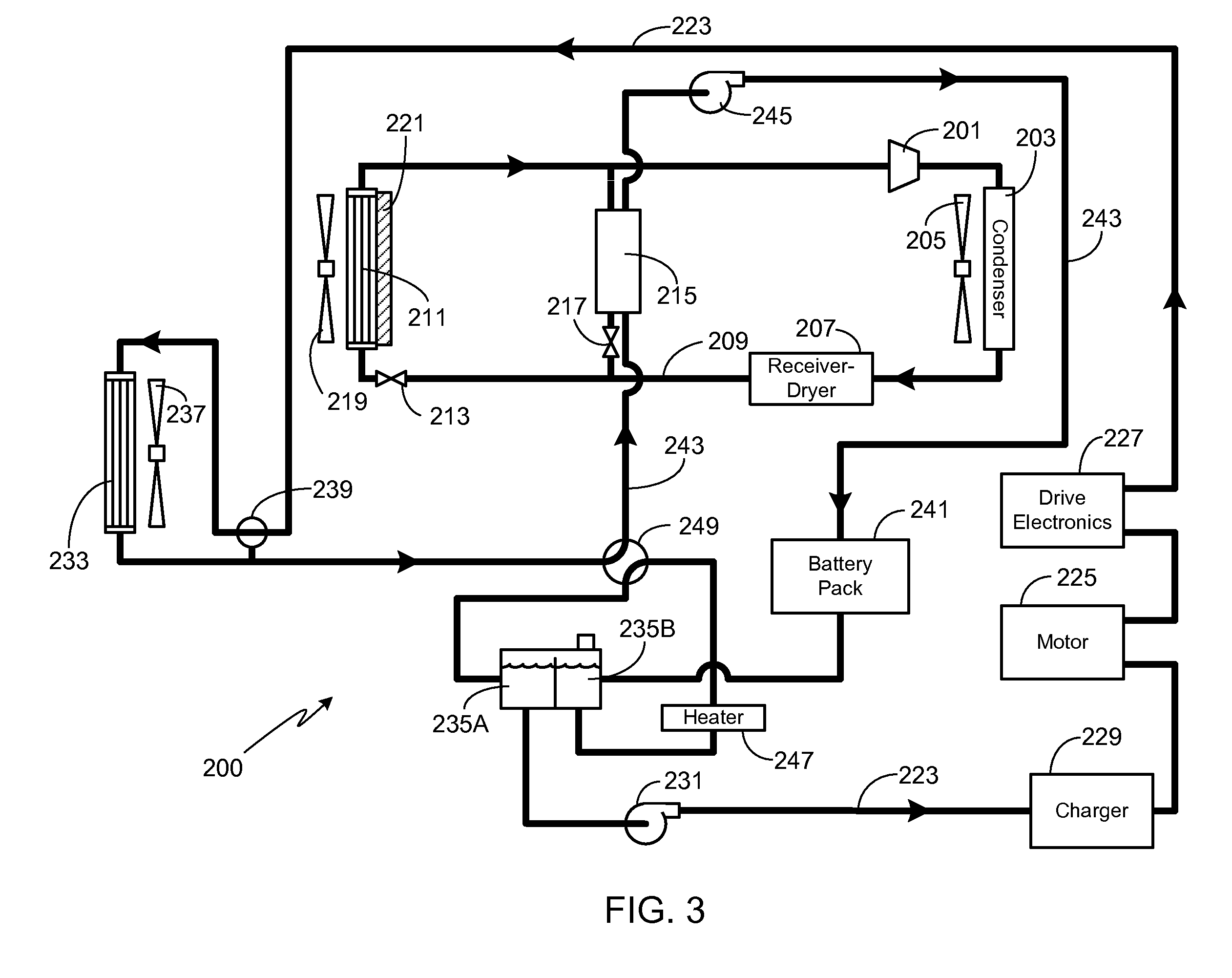 patent us8336319 - thermal management system with dual mode coolant loops