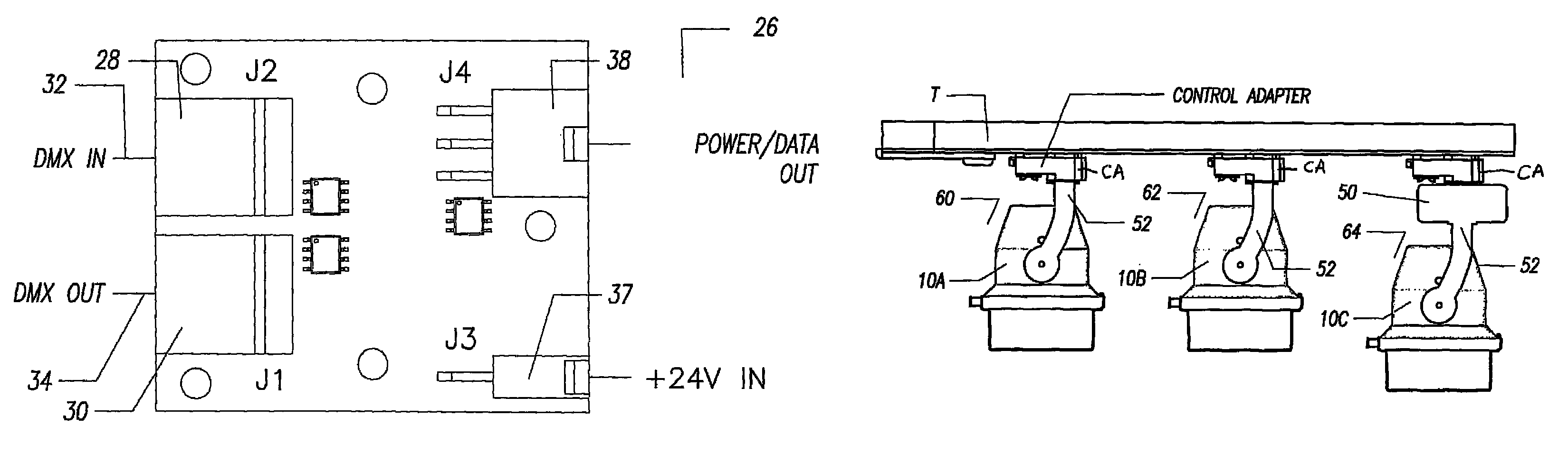 Patent Us8344655 Power And Data Track Lighting System