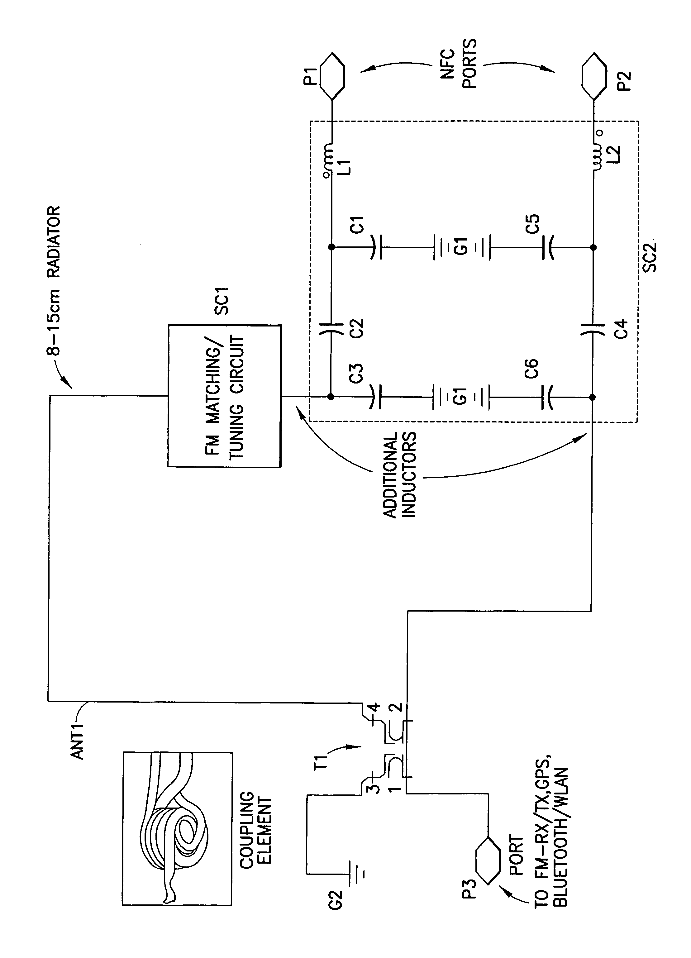 Patent Us8344959 Multiprotocol Antenna For Wireless Systems Block Diagram An Fm Transmitter Using Indirect Is Attached What Drawing
